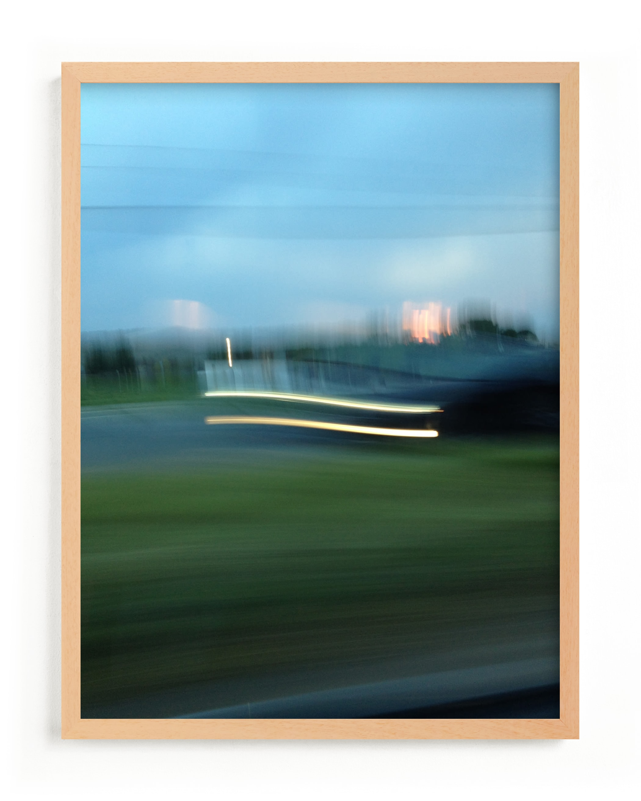 """""""Sunset Headlights"""" - Limited Edition Art Print by cassie adams in beautiful frame options and a variety of sizes."""