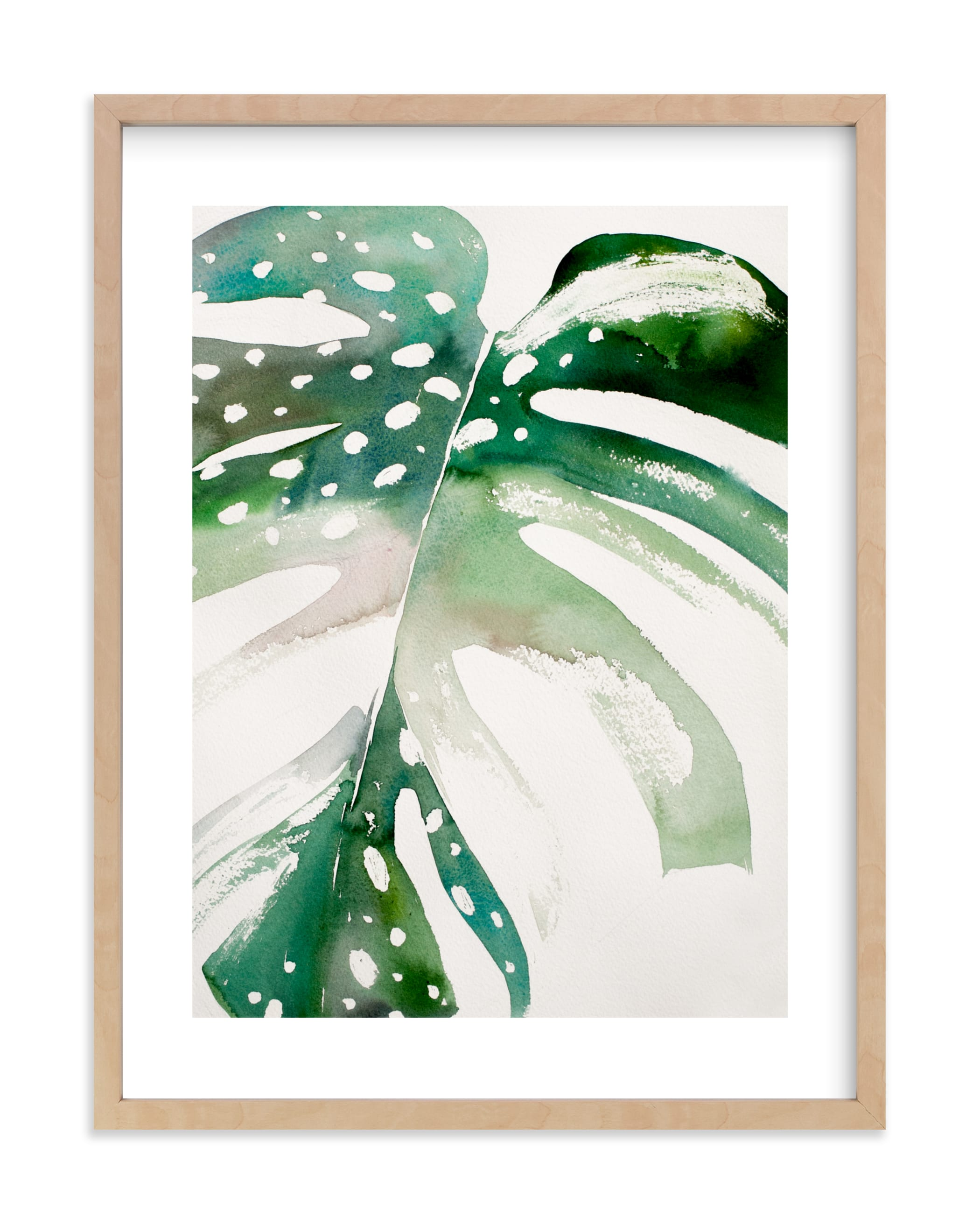 """Begonia Monsteras"" - Limited Edition Art Print by jinseikou in beautiful frame options and a variety of sizes."
