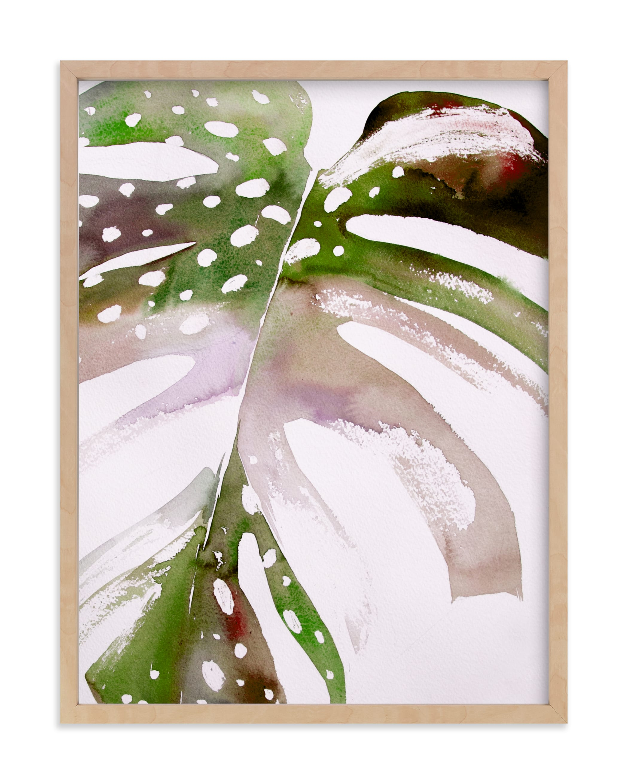 """""""Begonia Monsteras"""" - Limited Edition Art Print by jinseikou in beautiful frame options and a variety of sizes."""