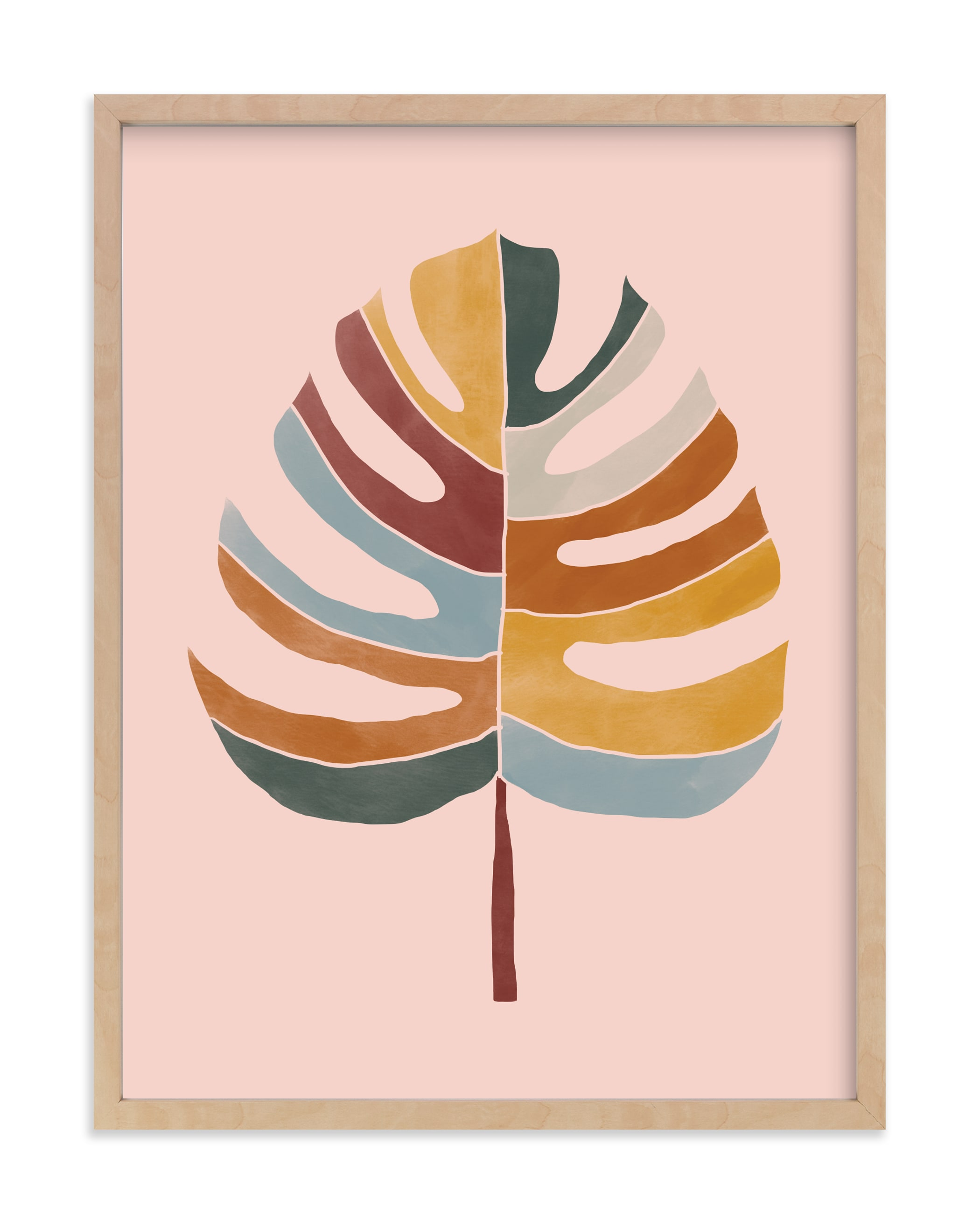 """Chic Monstera"" - Limited Edition Art Print by lulu and isabelle in beautiful frame options and a variety of sizes."