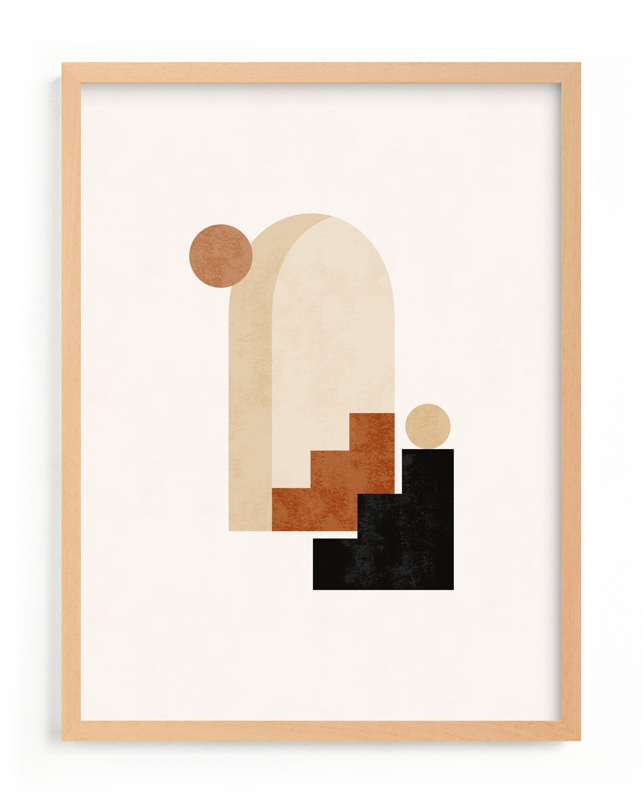 """""""Rustic Geometry 1"""" - Limited Edition Art Print by Iveta Angelova in beautiful frame options and a variety of sizes."""