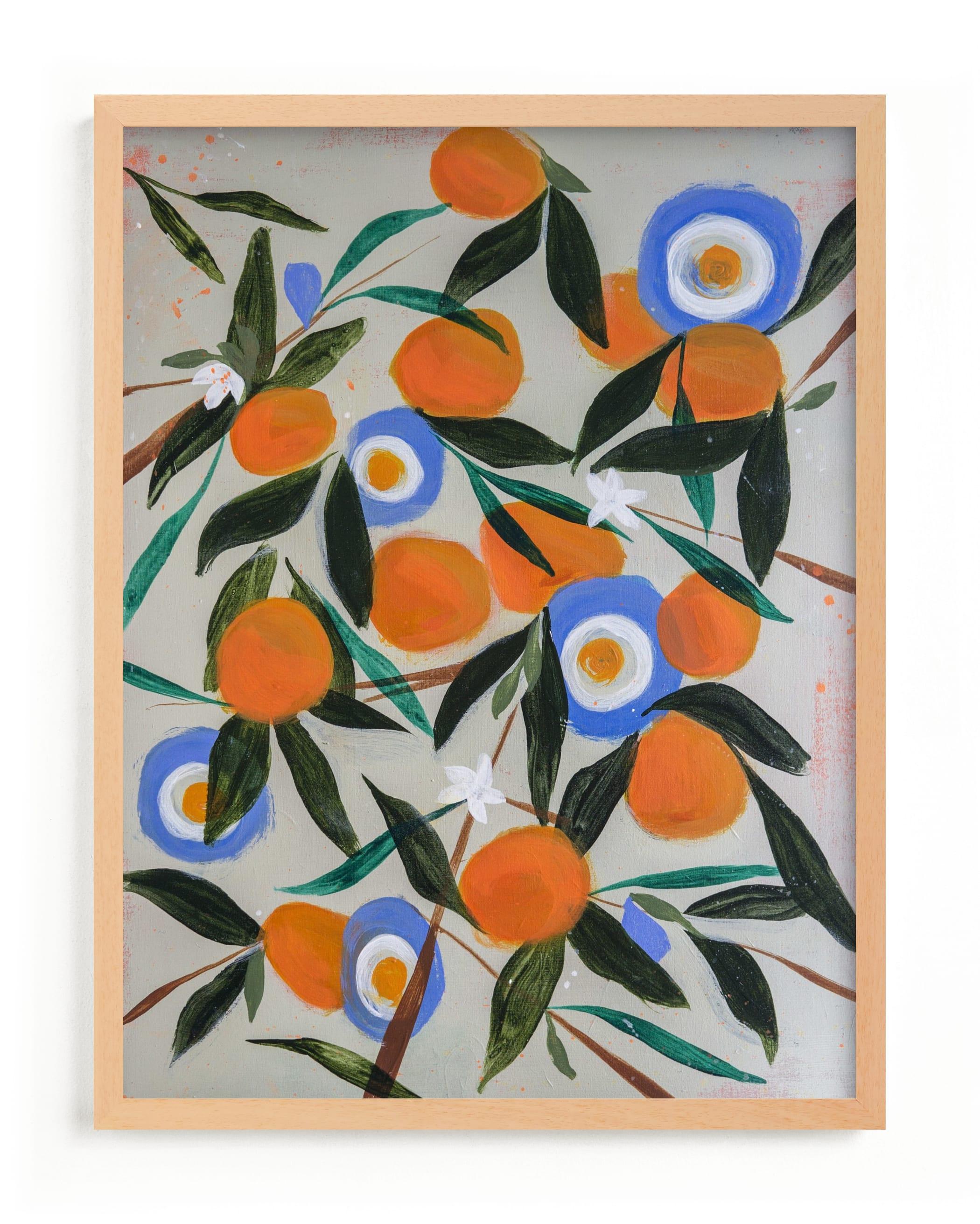 This is a orange art by Rachel Roe called Orange Tree.