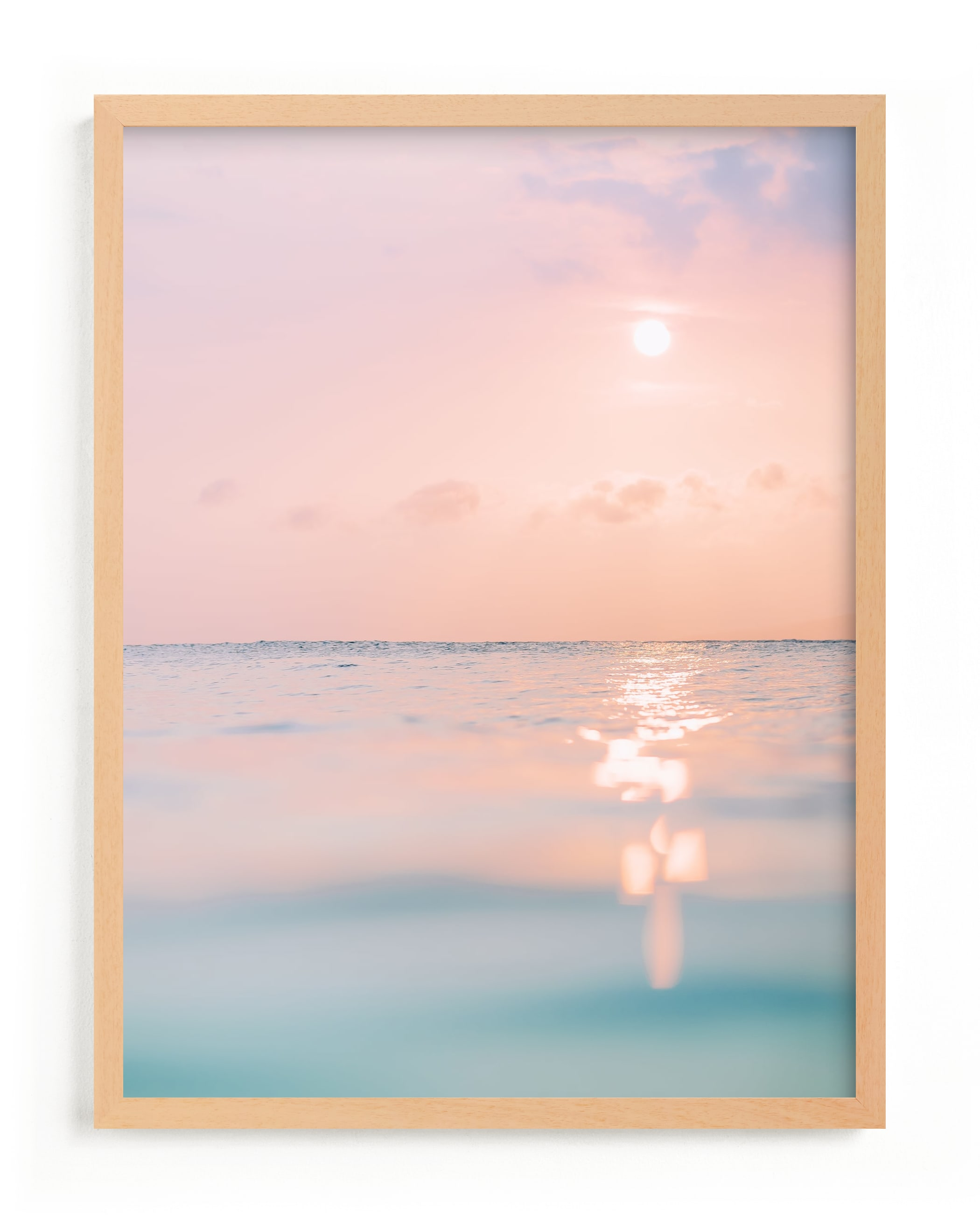 """""""sorbet sea"""" - Grownup Open Edition Non-custom Art Print by Kamala Nahas in beautiful frame options and a variety of sizes."""