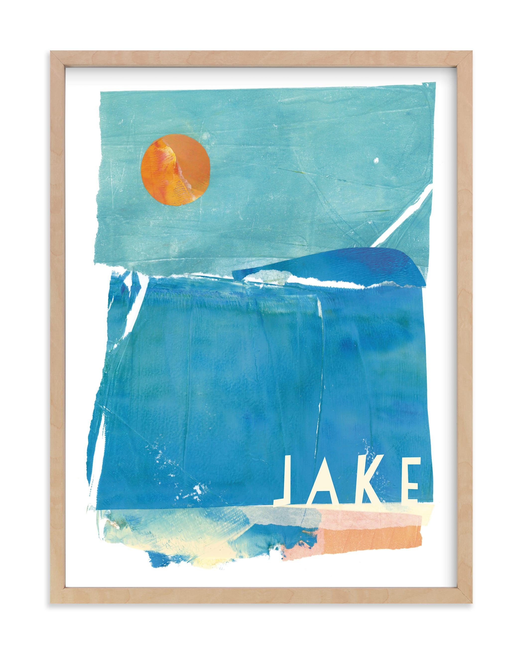 Night Swim Children's Custom Art Print