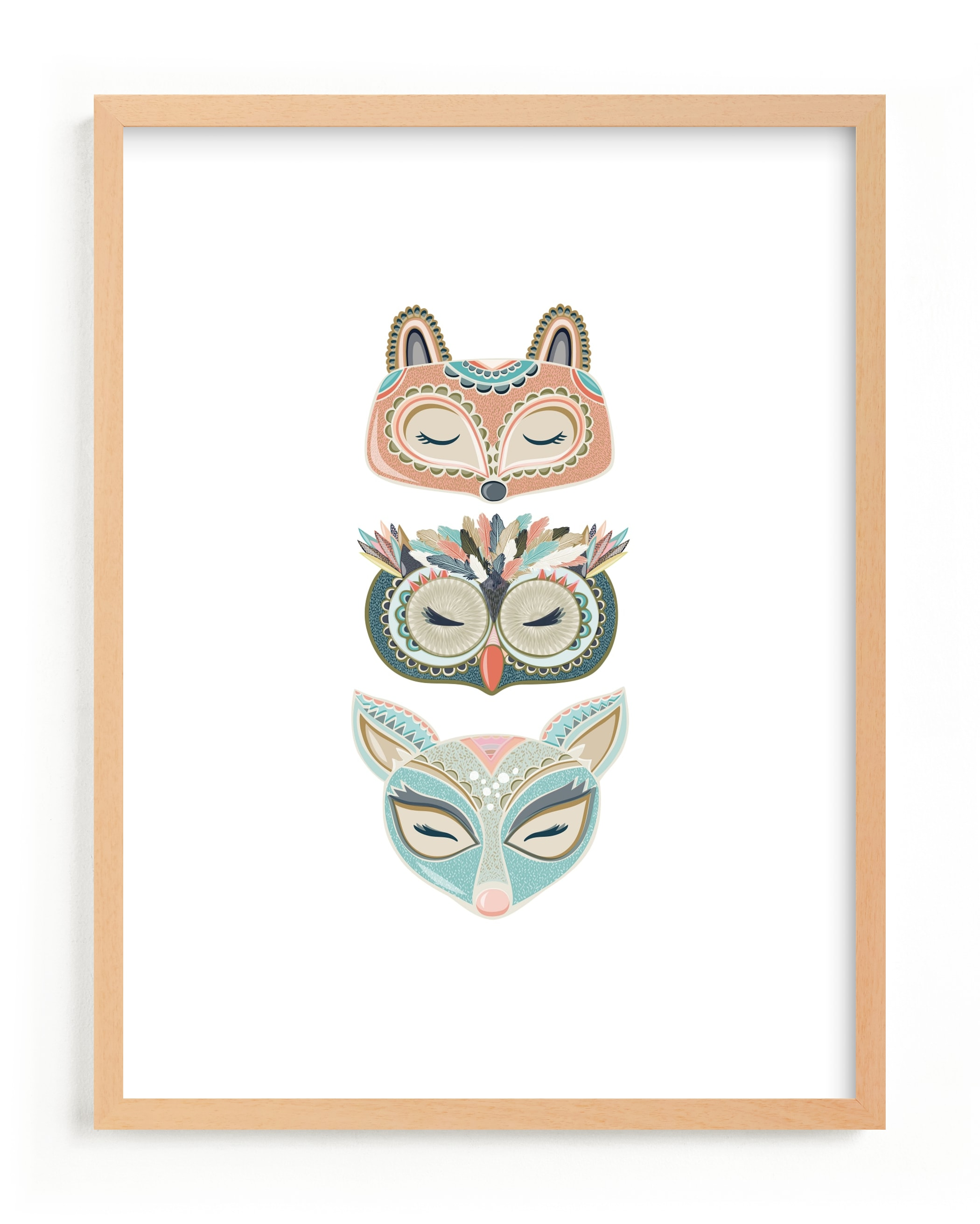 """""""Into the Woods"""" - Limited Edition Art Print by Sarah Green in beautiful frame options and a variety of sizes."""