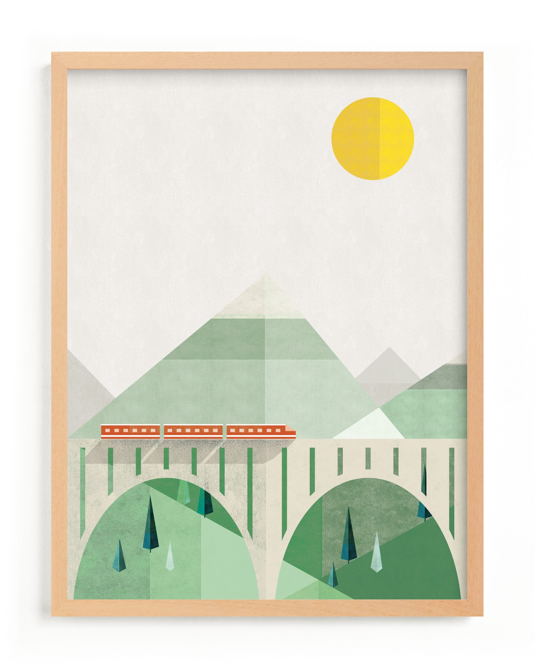 """""""Train Voyage"""" - Limited Edition Art Print by Robert and Stella in beautiful frame options and a variety of sizes."""