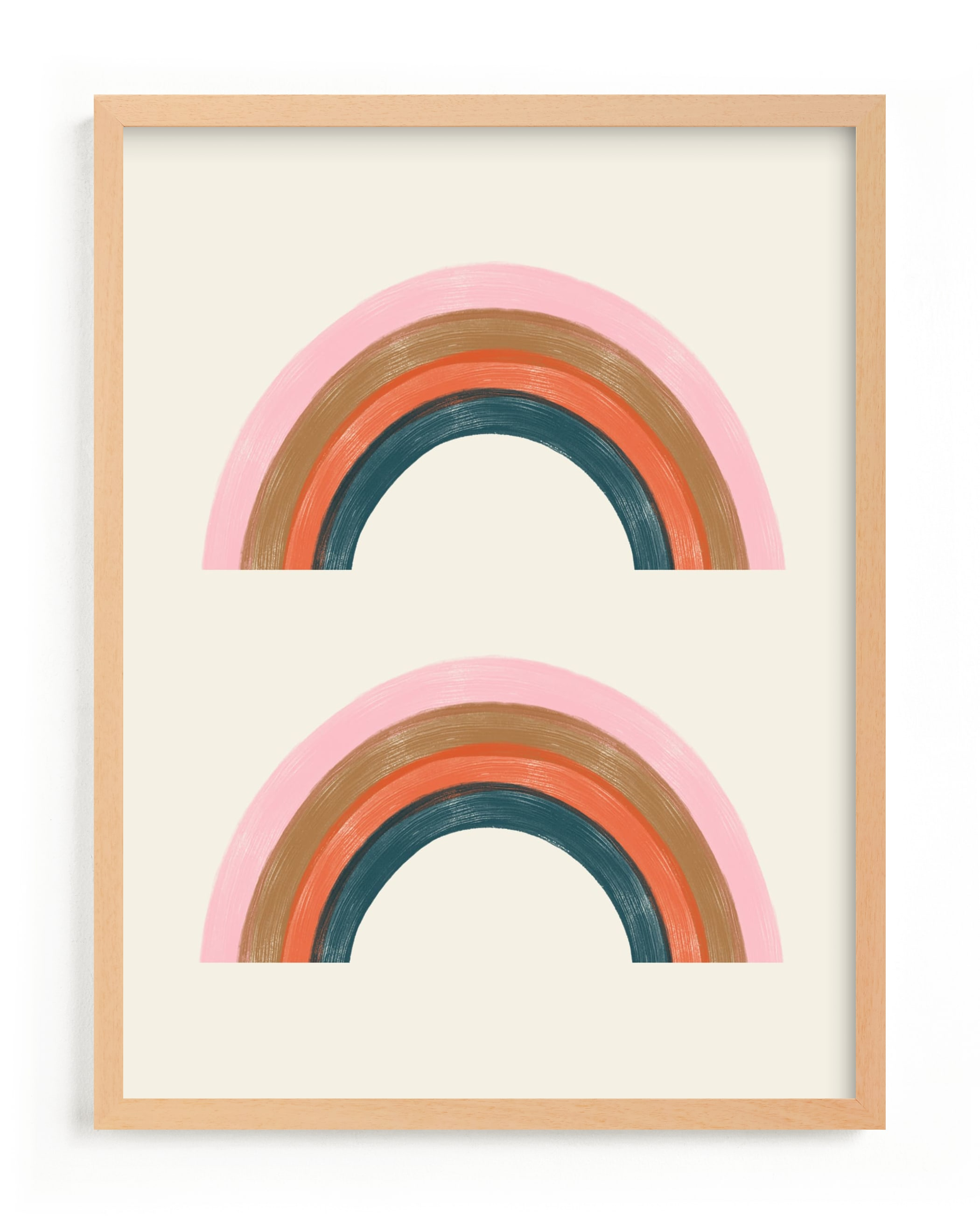 Double Vintage Rainbow Children's Art Print