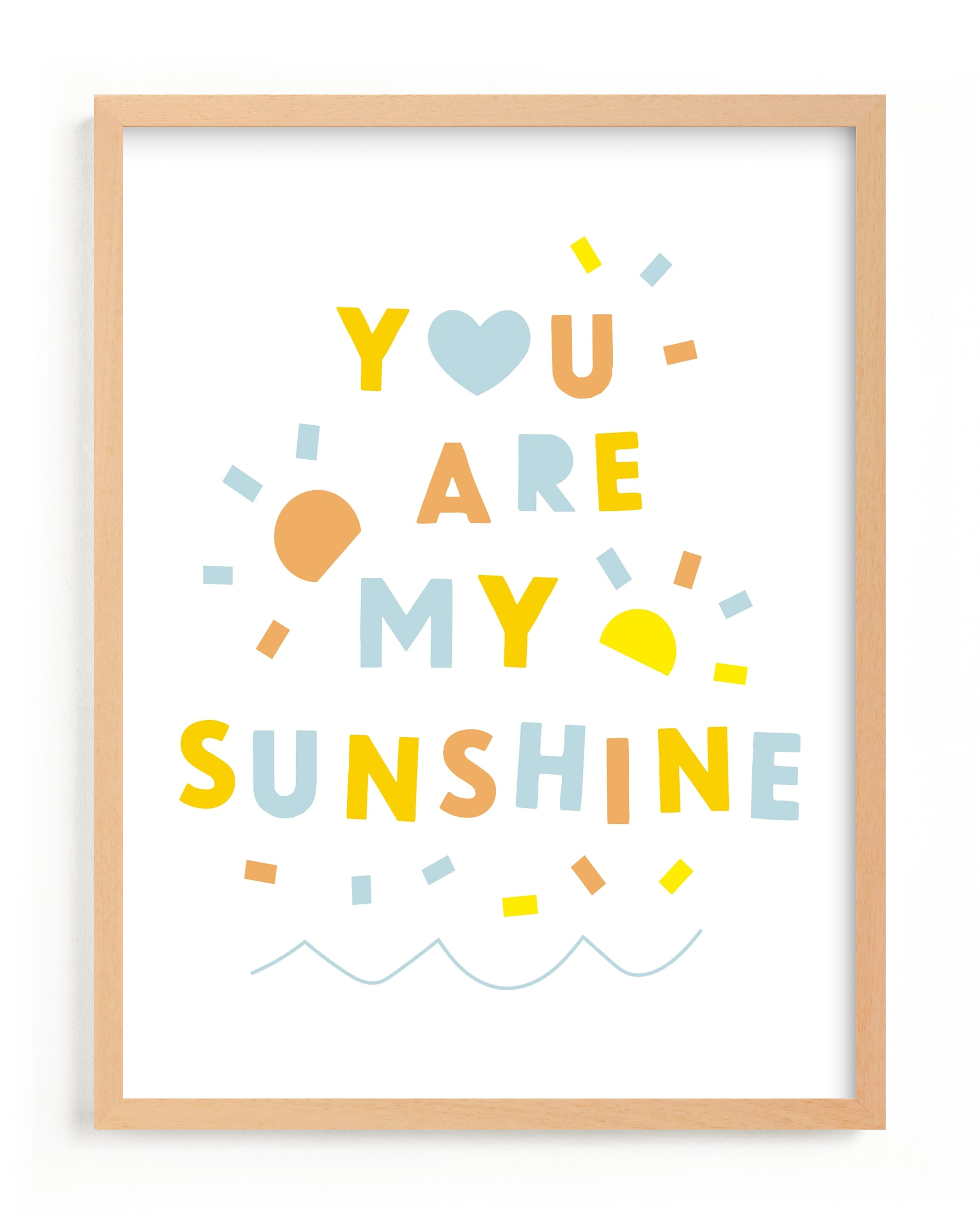 """Sunshine Letters"" - Limited Edition Art Print by Ariel Rutland in beautiful frame options and a variety of sizes."