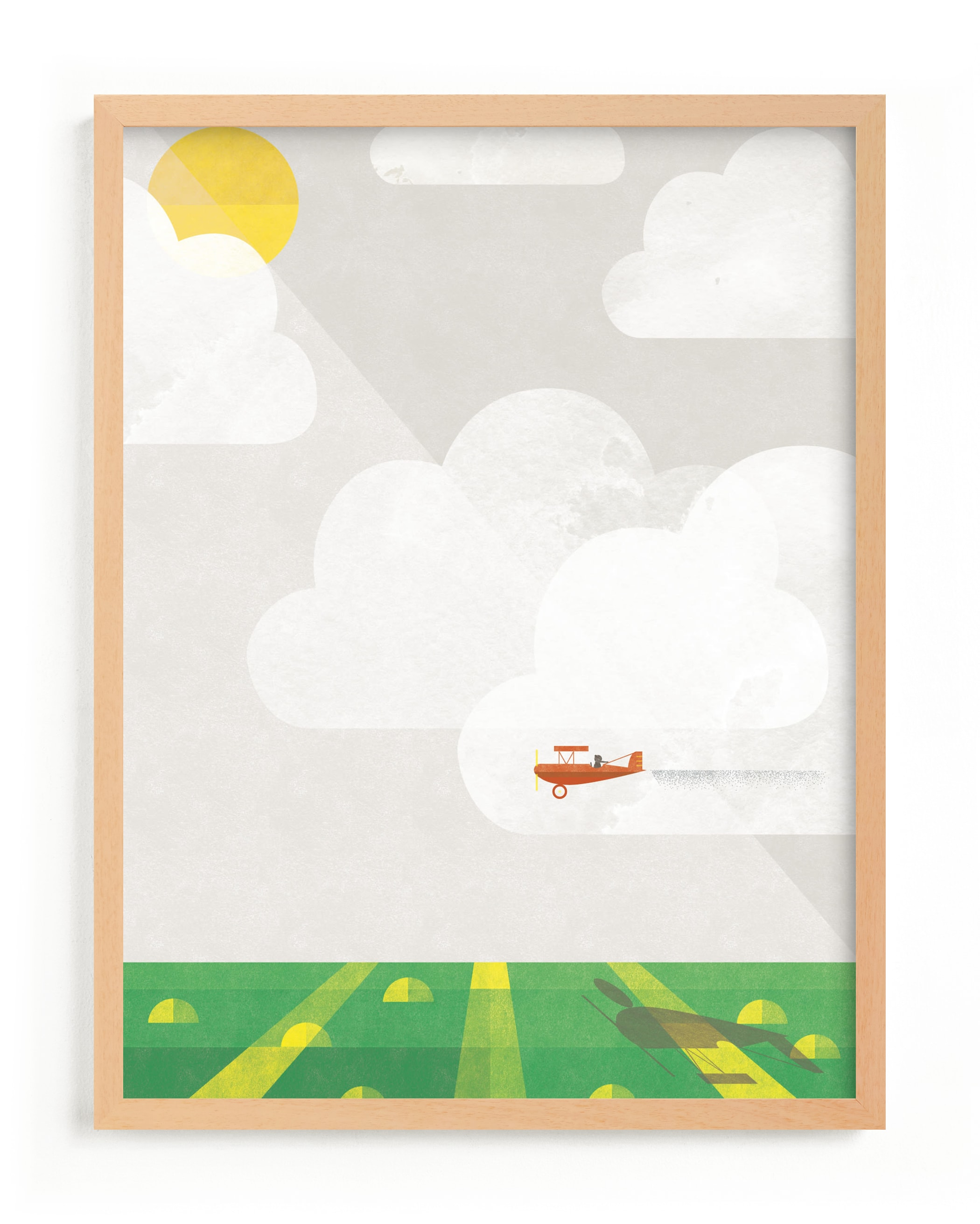 """""""Sky Adventure"""" - Limited Edition Art Print by Robert and Stella in beautiful frame options and a variety of sizes."""