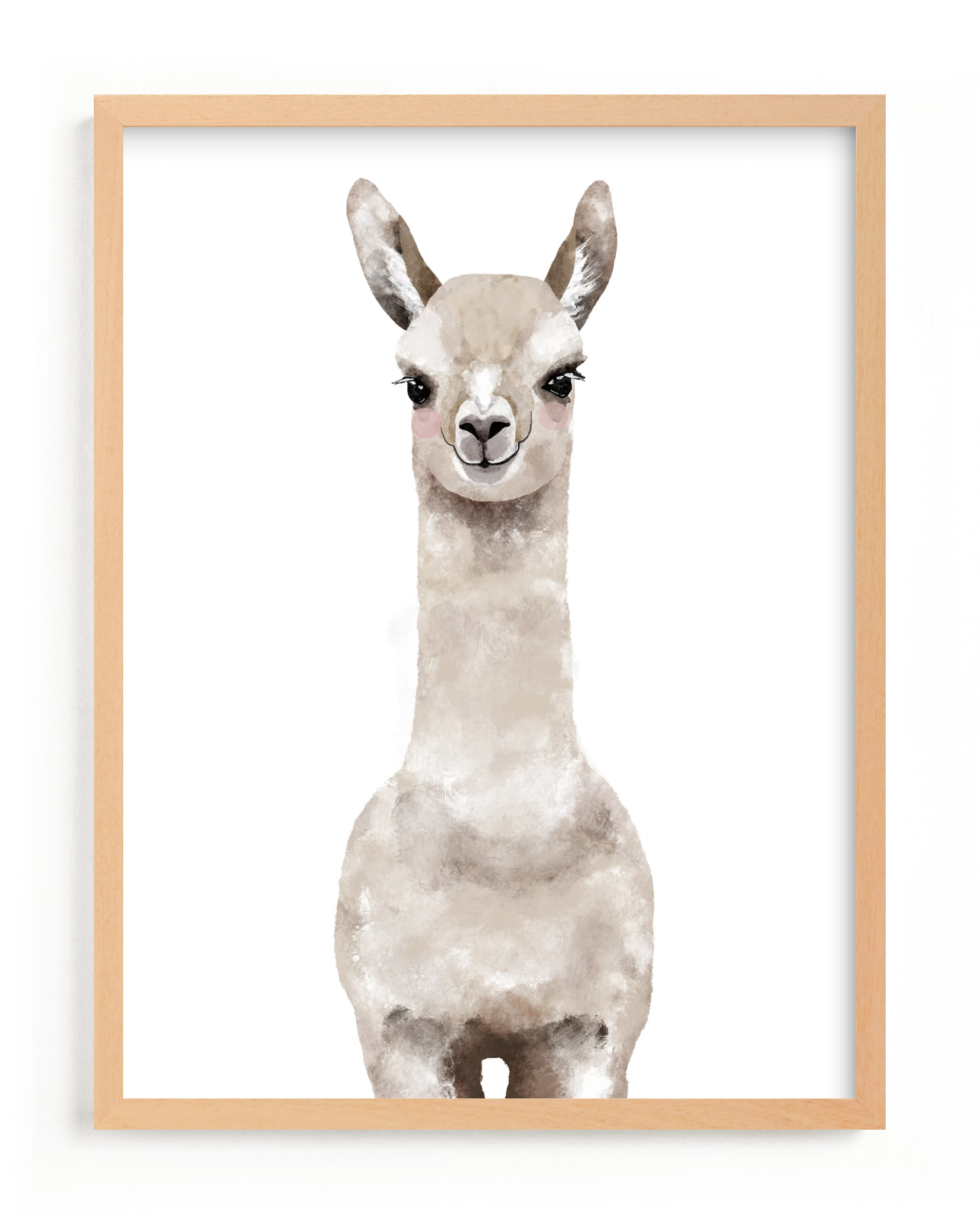 """""""Baby Animal Llama"""" - Limited Edition Art Print by Cass Loh in beautiful frame options and a variety of sizes."""