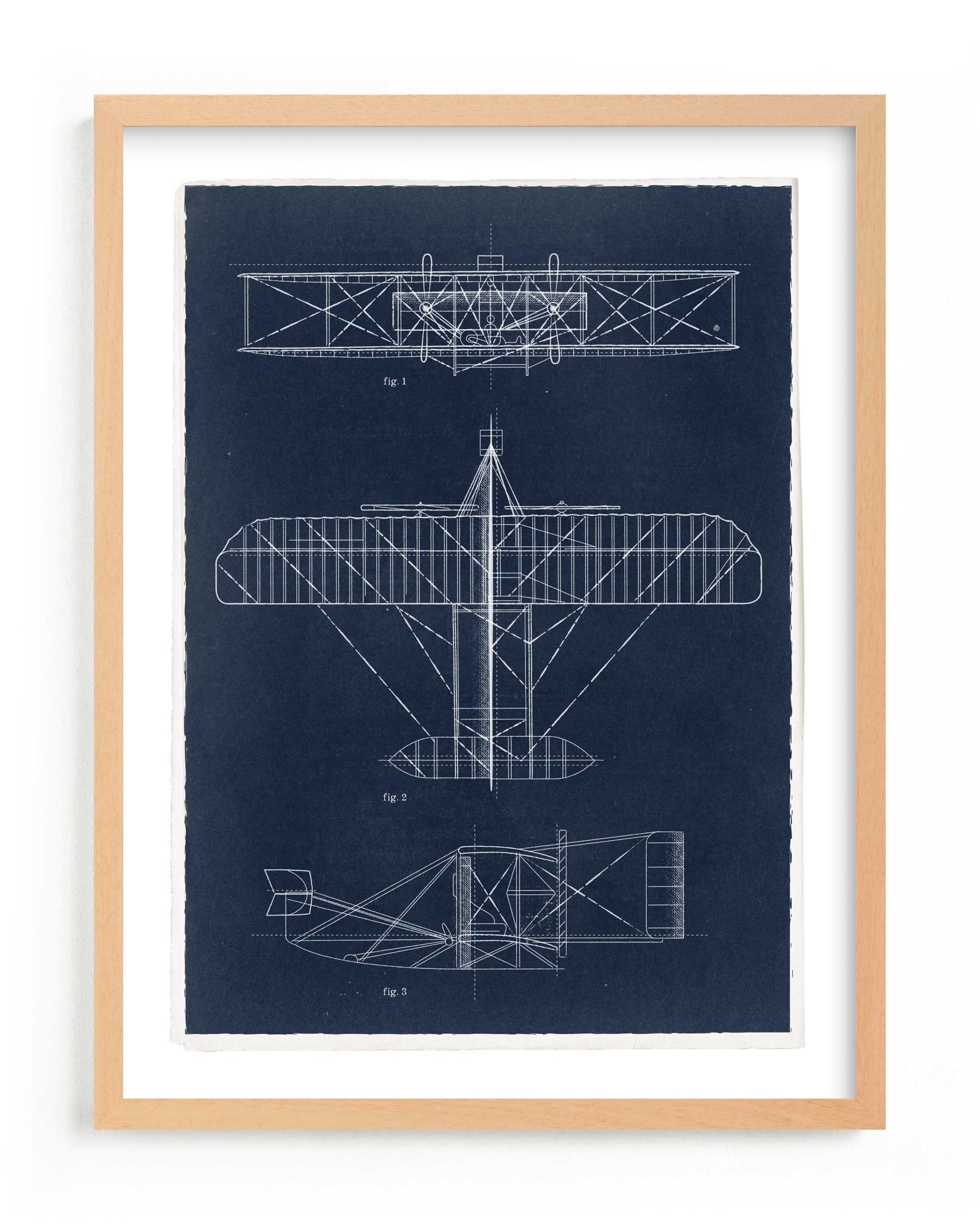 """""""Plane diagram"""" - Limited Edition Art Print by Robert and Stella in beautiful frame options and a variety of sizes."""