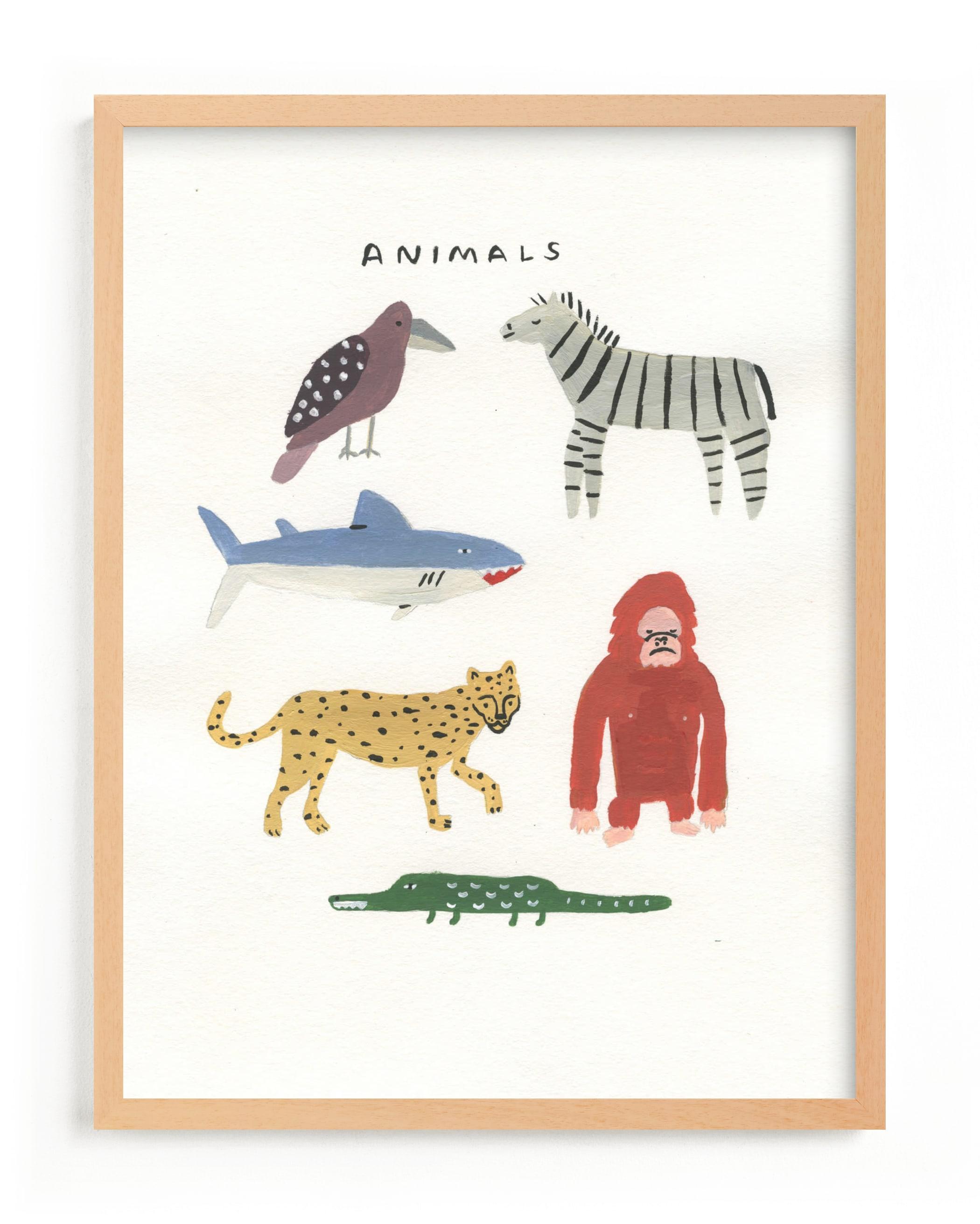 Animal Kingdom Children's Art Print