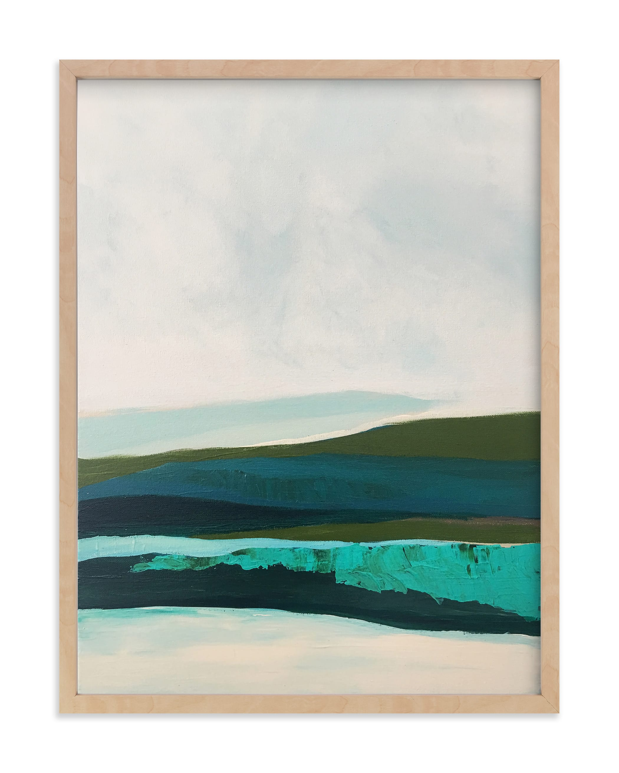 """""""Abstract  Seascape Alaskan Coast"""" - Art Print by Caryn Owen in beautiful frame options and a variety of sizes."""