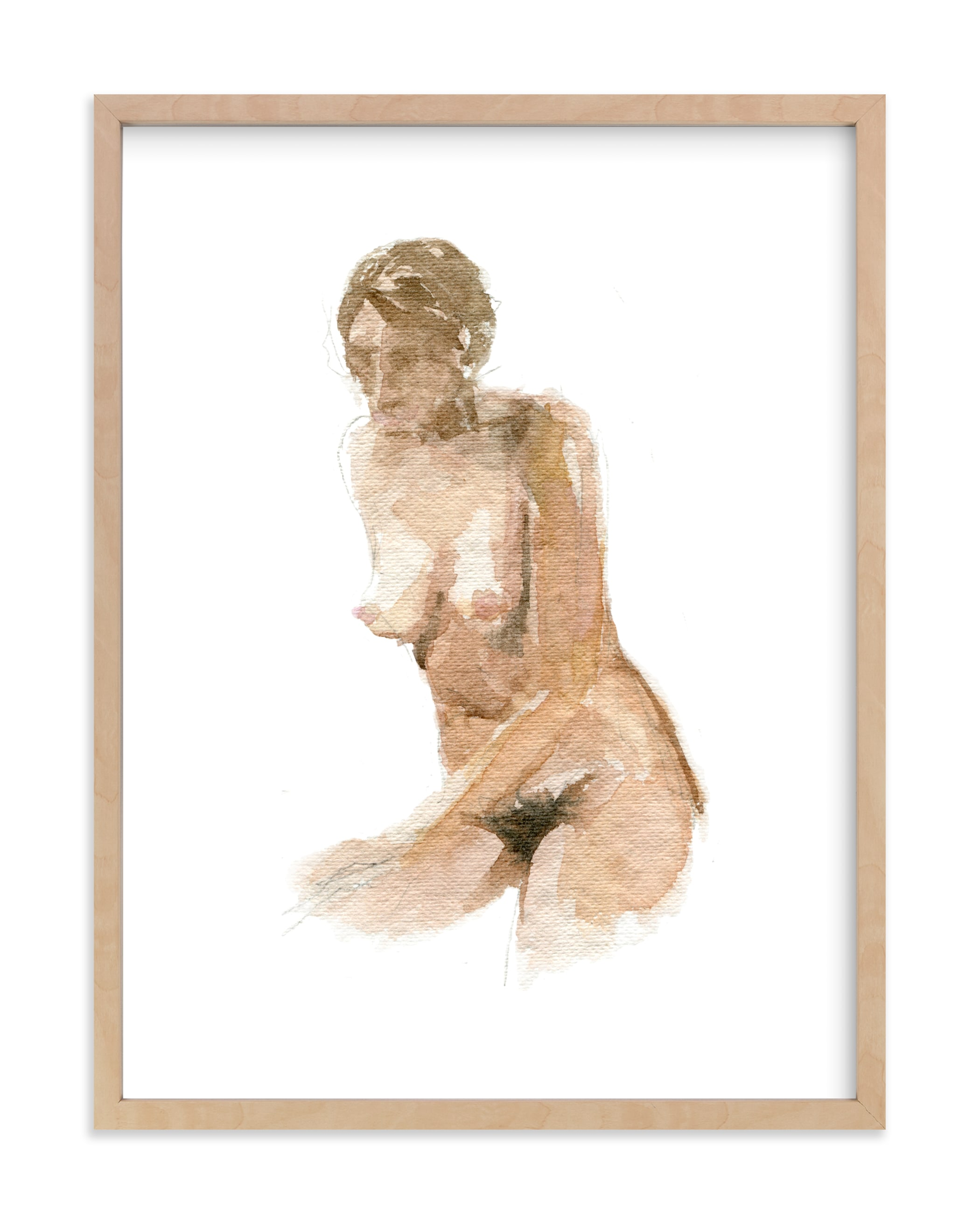 """""""Nude Bathing"""" by Jess Blazejewski in beautiful frame options and a variety of sizes."""