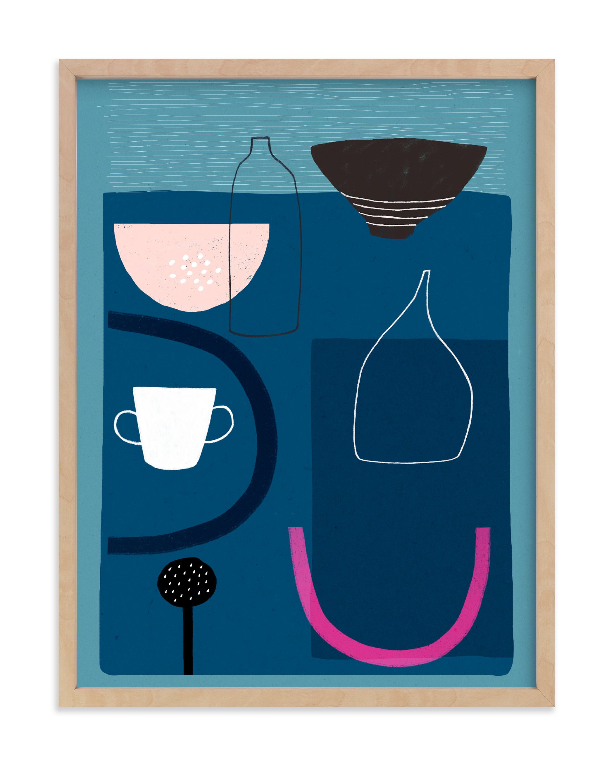 """Blue Still Life 2"" by Francesca Iannaccone in beautiful frame options and a variety of sizes."