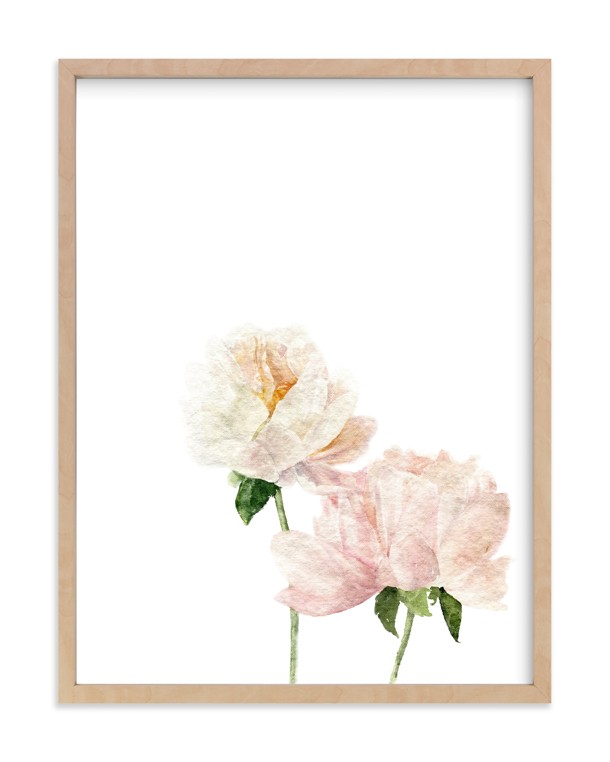 """""""Blushing Peonies"""" by Jess Blazejewski in beautiful frame options and a variety of sizes."""