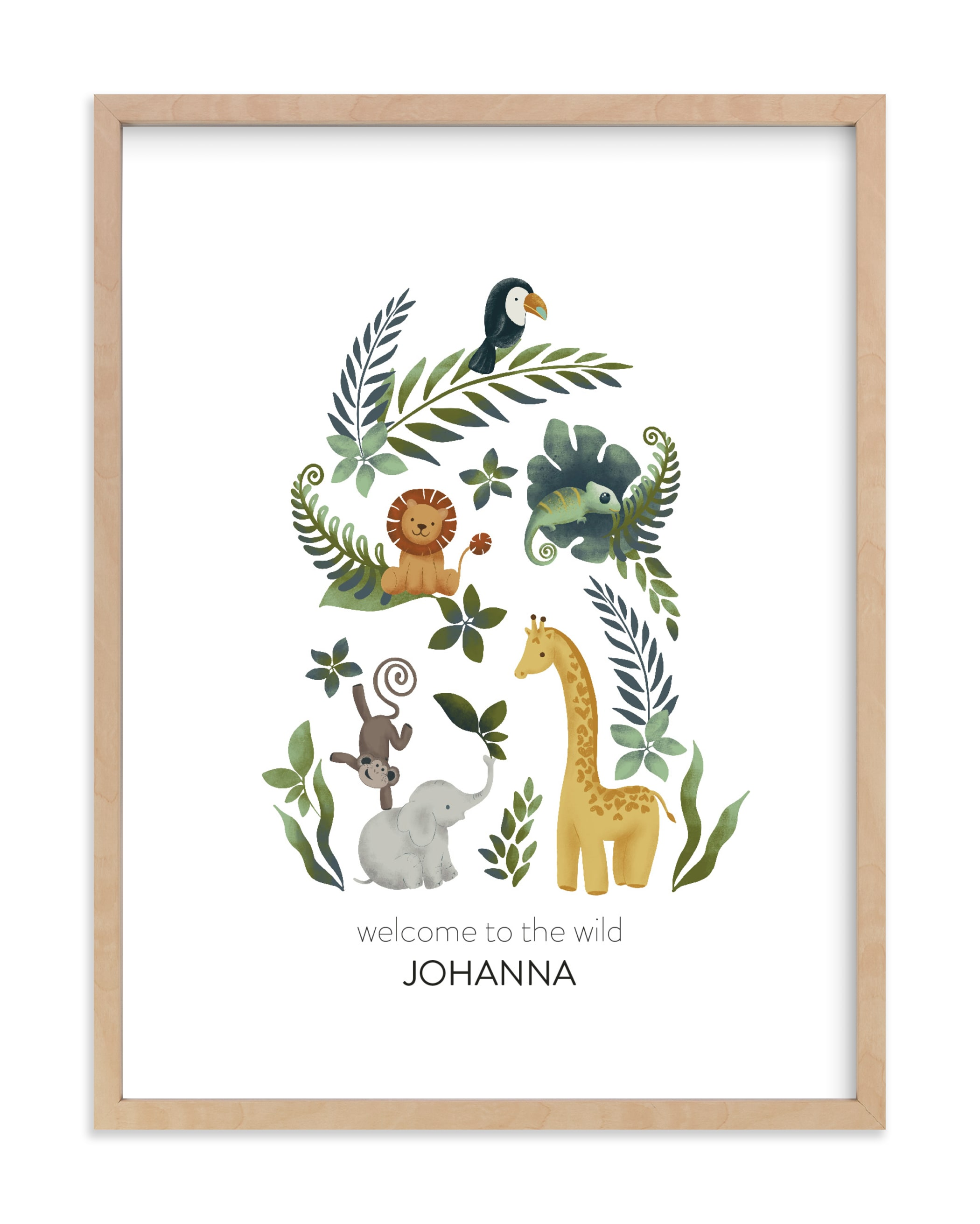 The wild Nursery Custom Art Print