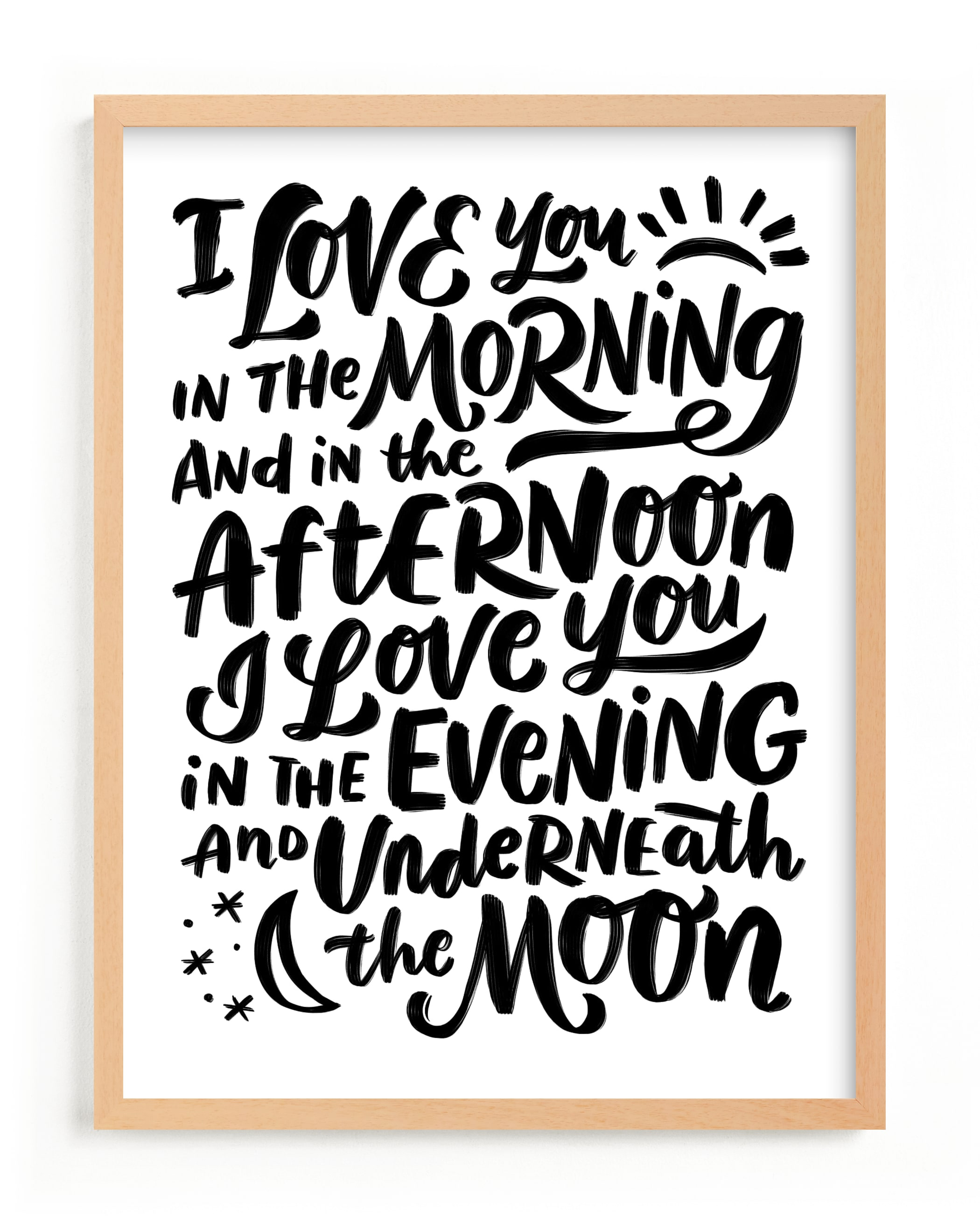 """""""I love you in the morning"""" - Limited Edition Art Print by Laura Bolter Design in beautiful frame options and a variety of sizes."""