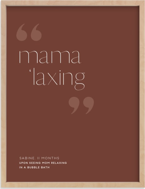 This is a brown art by Minted called Custom Kid's Quote Art.