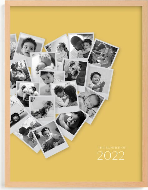 This is a brown photo art by Minted called Modern Heart Snapshot Mix® .