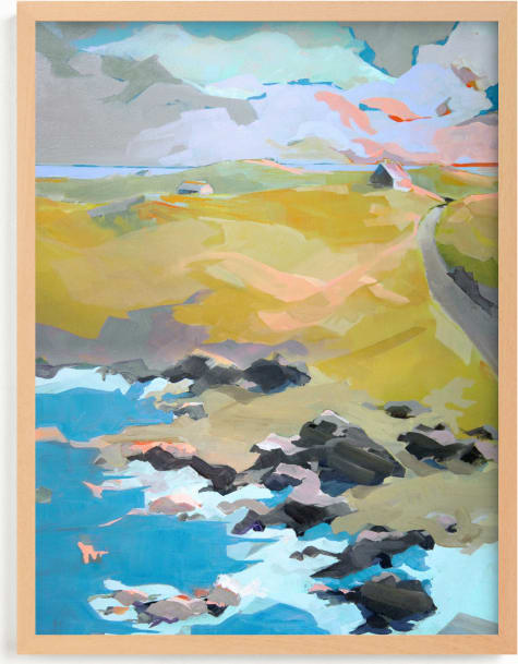This is a blue art by Jess Franks called Out To Sea.
