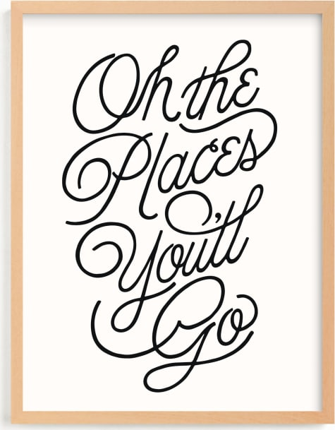 This is a black and white kids wall art by Yours Madly called Going Places.