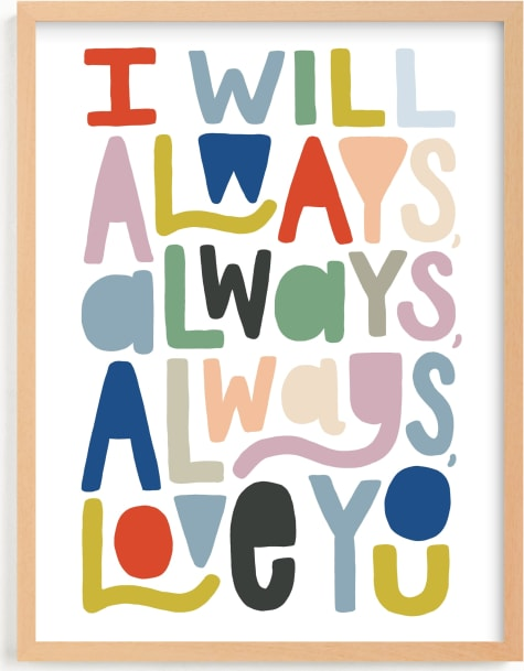 This is a colorful art by Alethea and Ruth called Always Always.