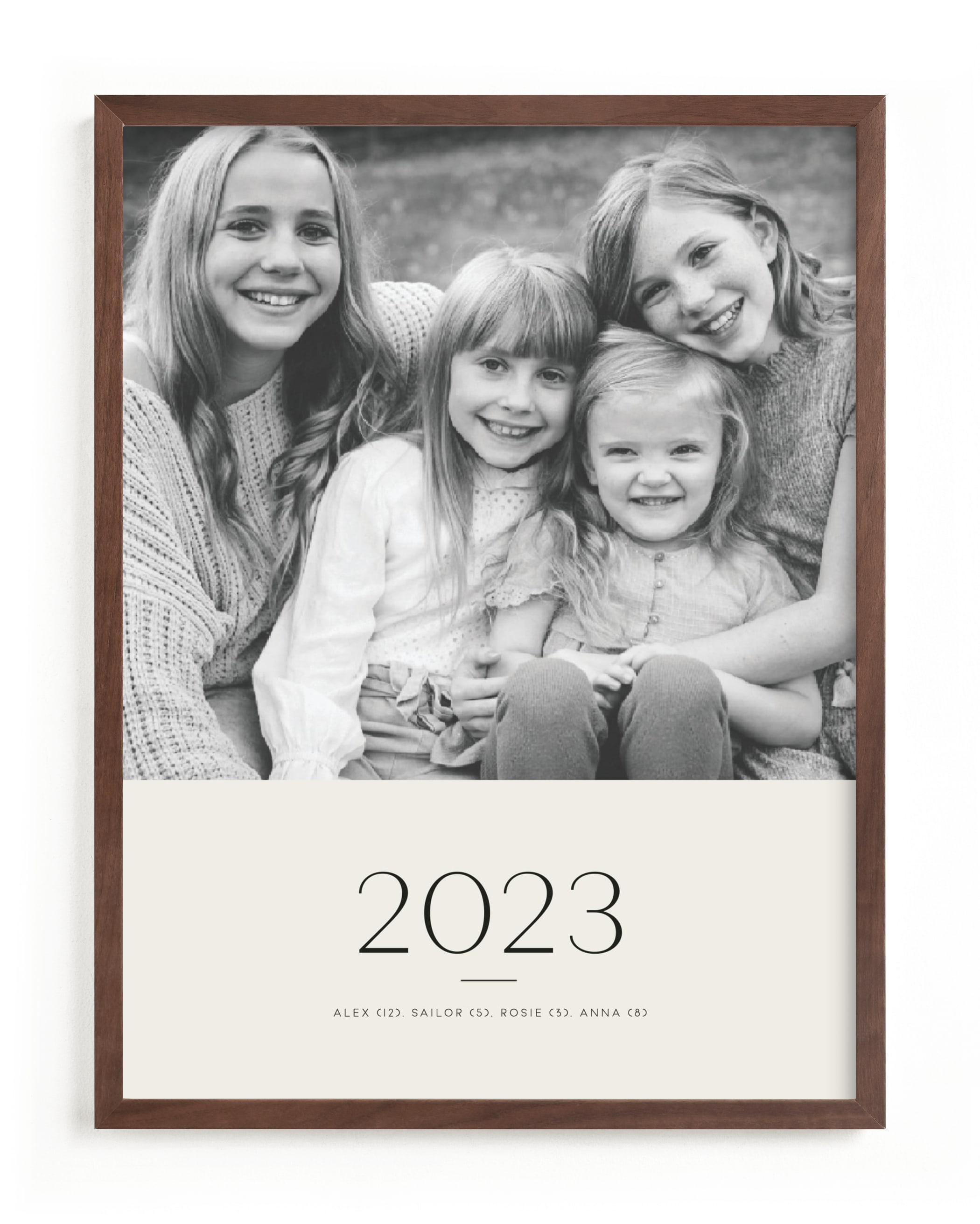 Yearly Portrait Custom Photo Art Print