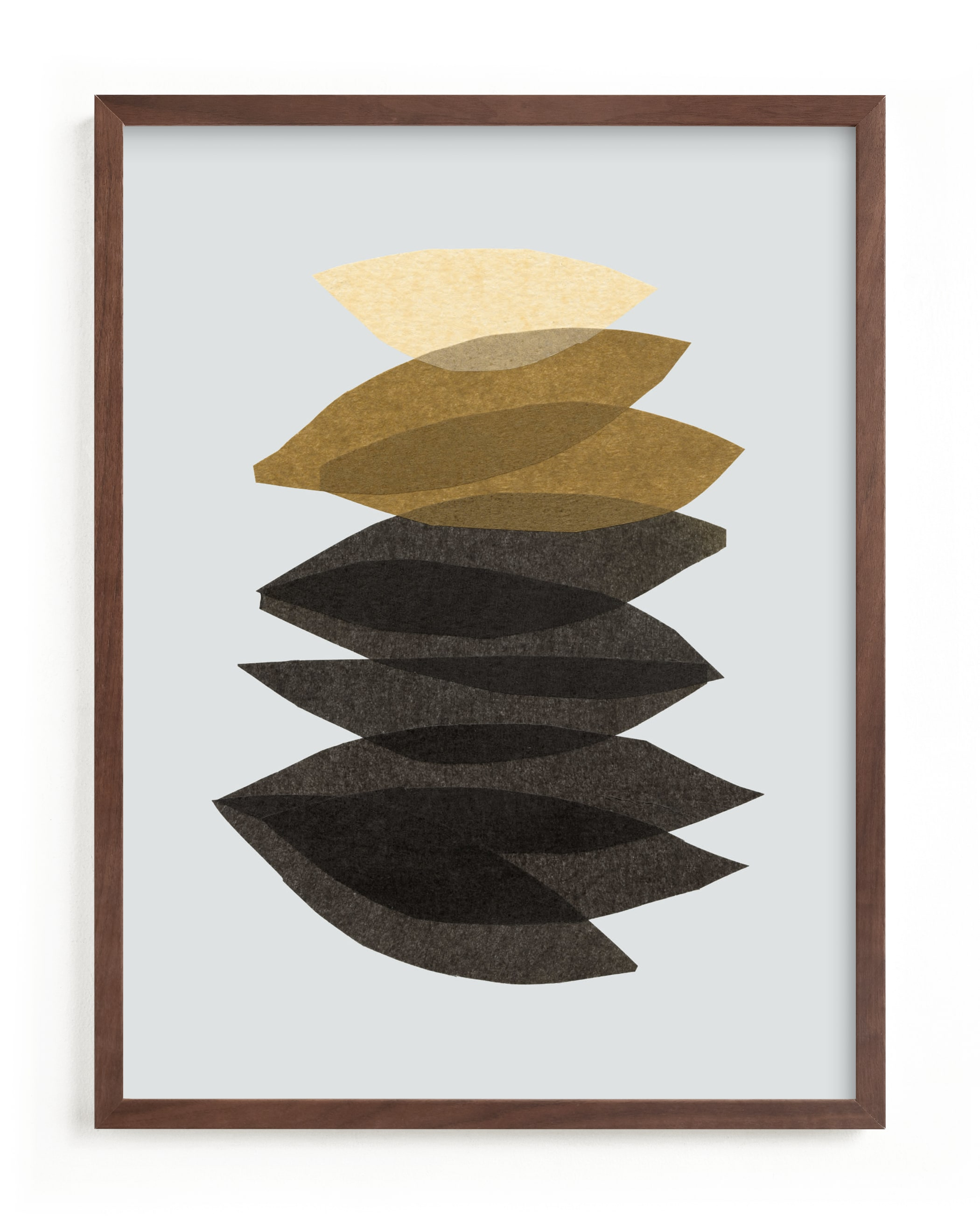 This is a yellow art by Carrie Moradi called organic stack.