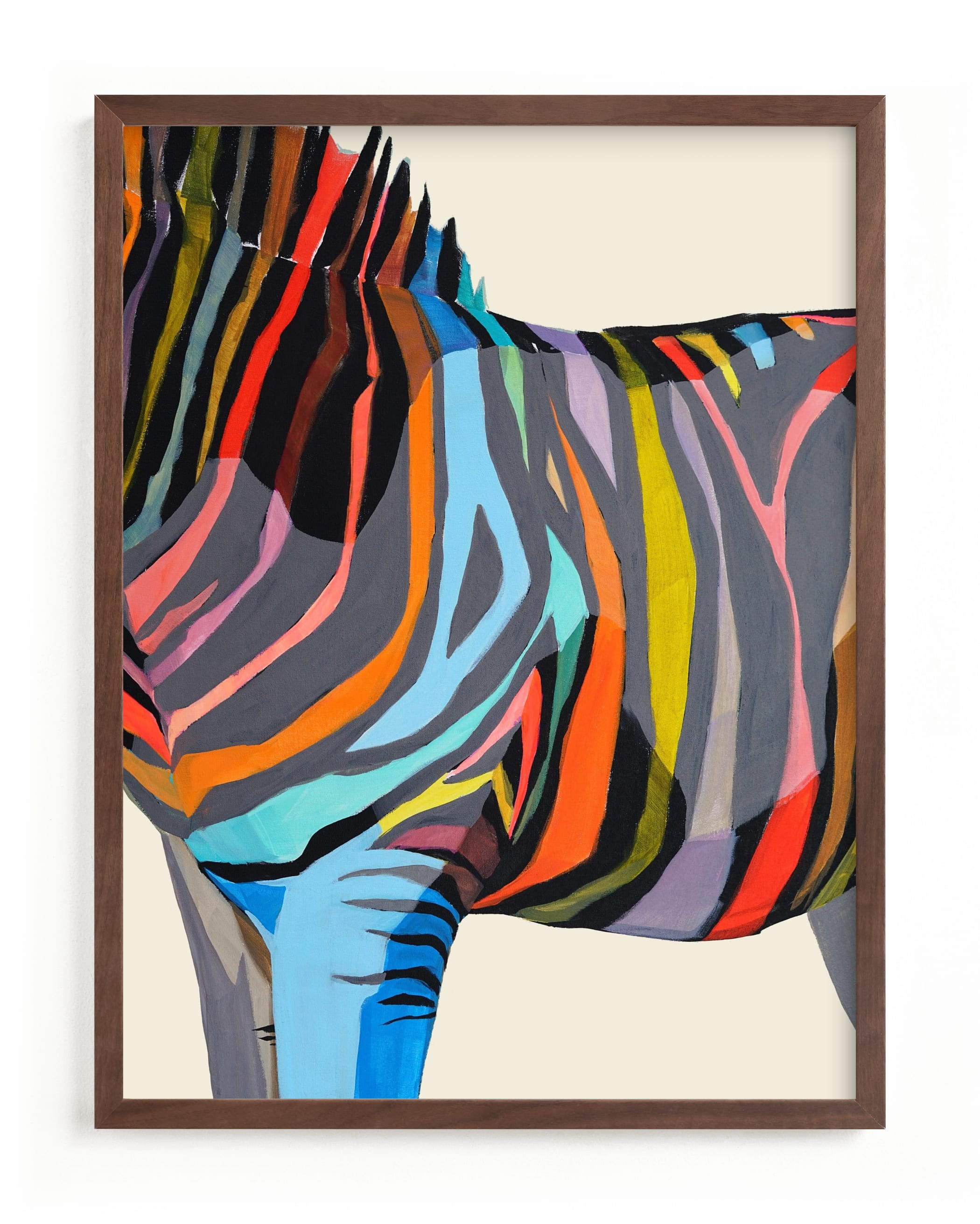 """Safari Stripes"" - Limited Edition Art Print by Jess Franks in beautiful frame options and a variety of sizes."