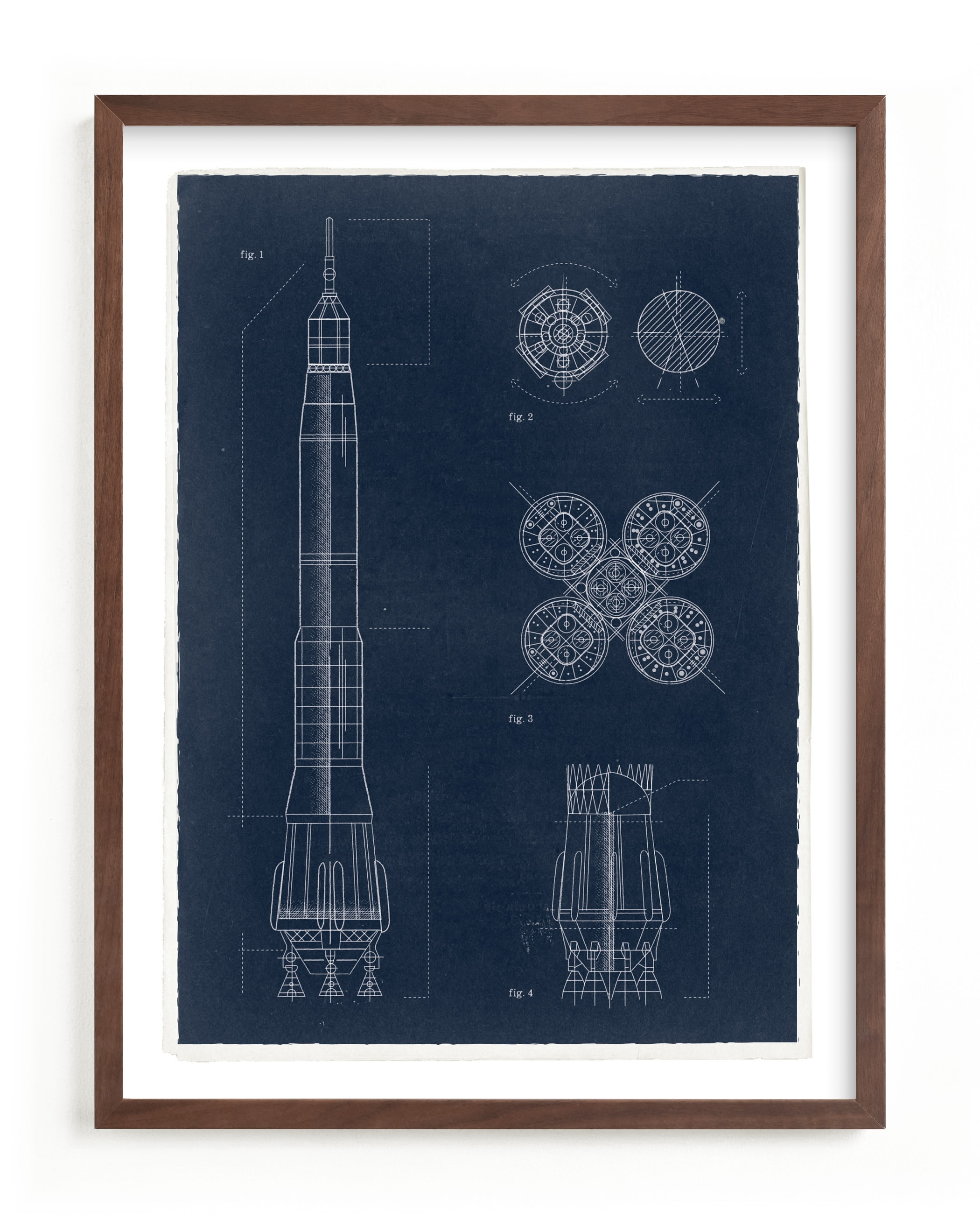 """""""Rocket Diagram"""" by Robert and Stella in beautiful frame options and a variety of sizes."""