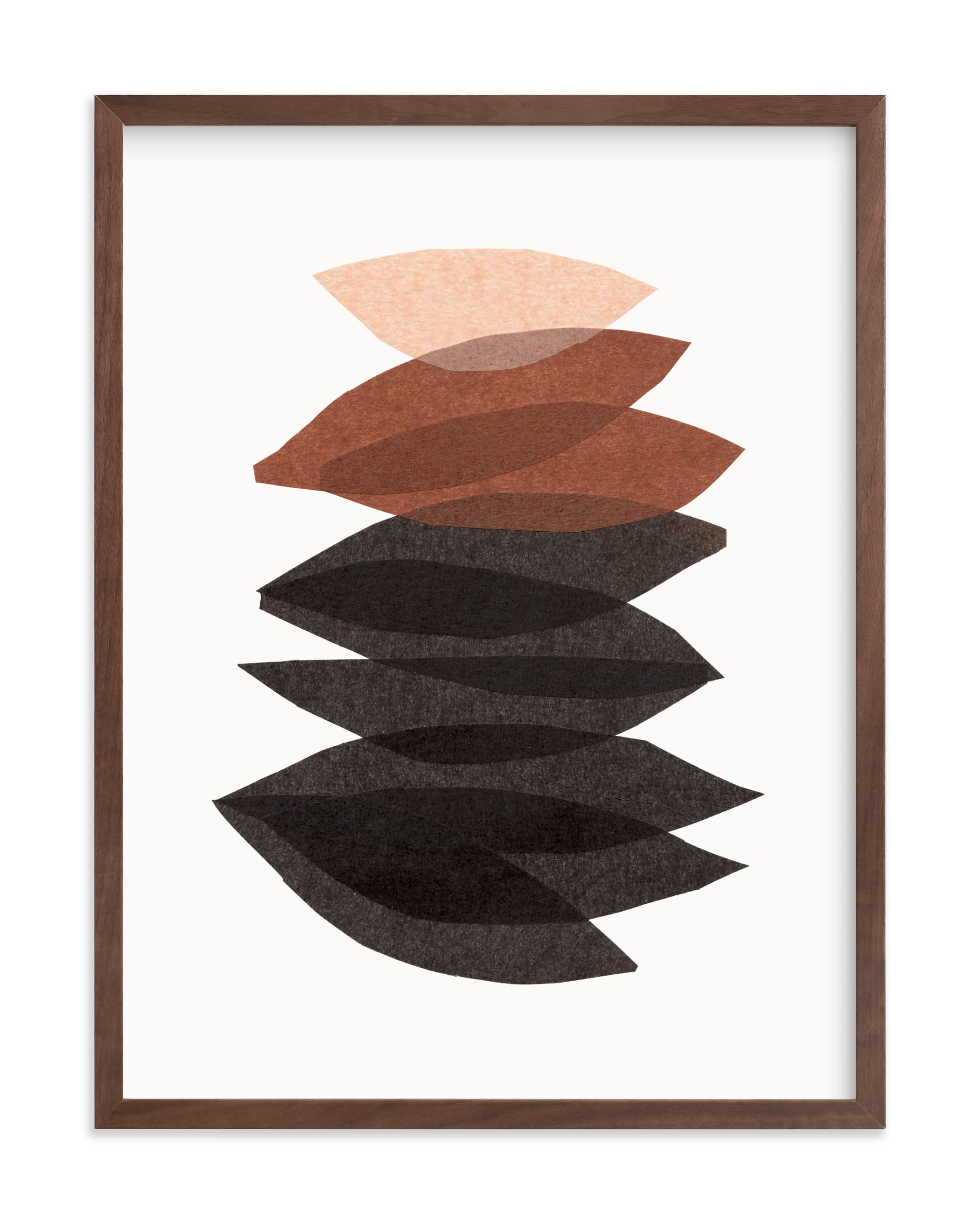 """""""organic stack stone"""" by Carrie Moradi in beautiful frame options and a variety of sizes."""