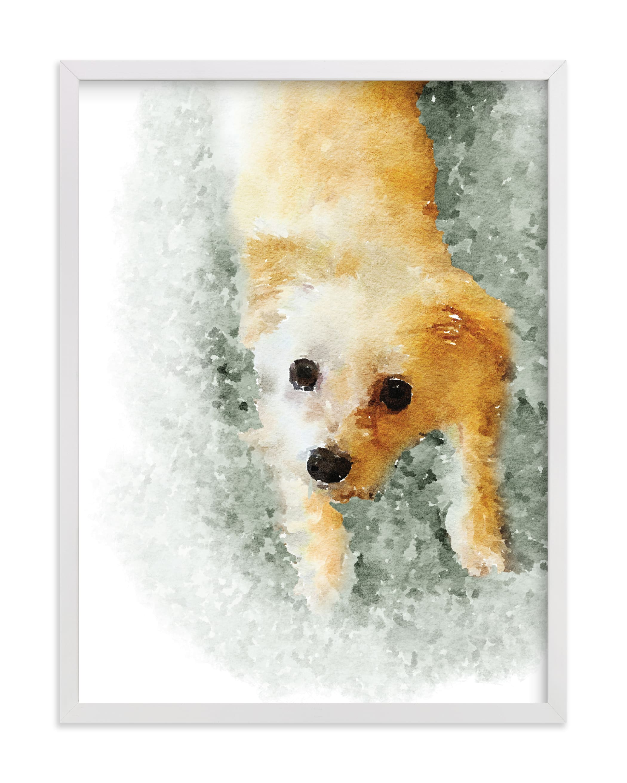 """Custom Pet Portrait"" - Drawn Digital Art by Minted in beautiful frame options and a variety of sizes."