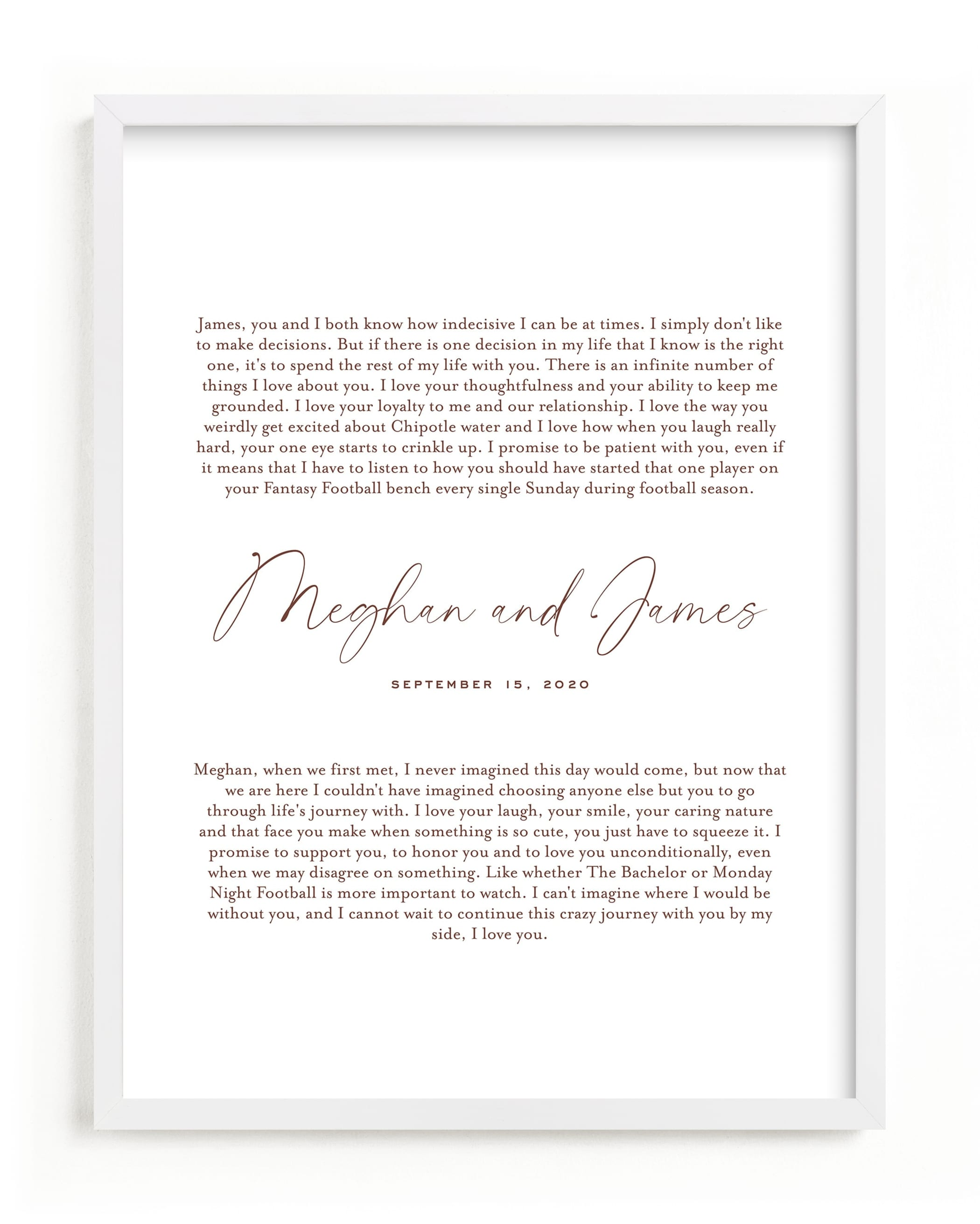 """""""Our Vows Art Print"""" - Drawn Digital Art by Minted in beautiful frame options and a variety of sizes."""