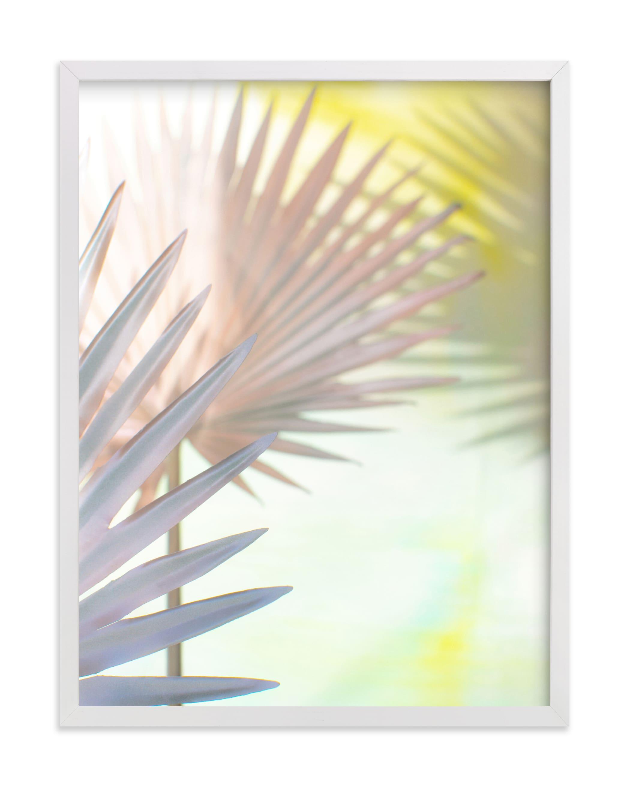 electric palms Wall Art Print