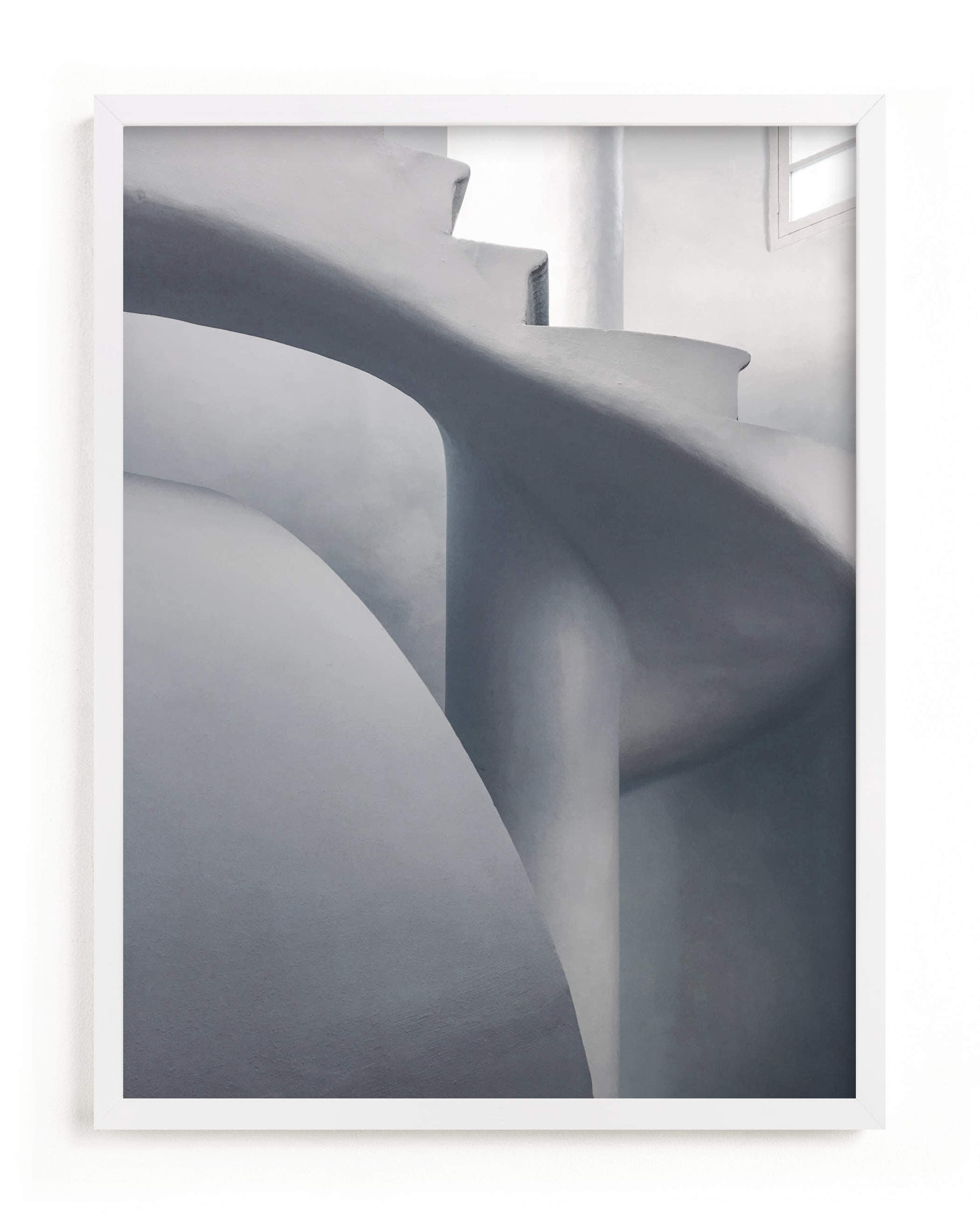 """Monochrome Staircase"" - Limited Edition Art Print by Pink House Press in beautiful frame options and a variety of sizes."