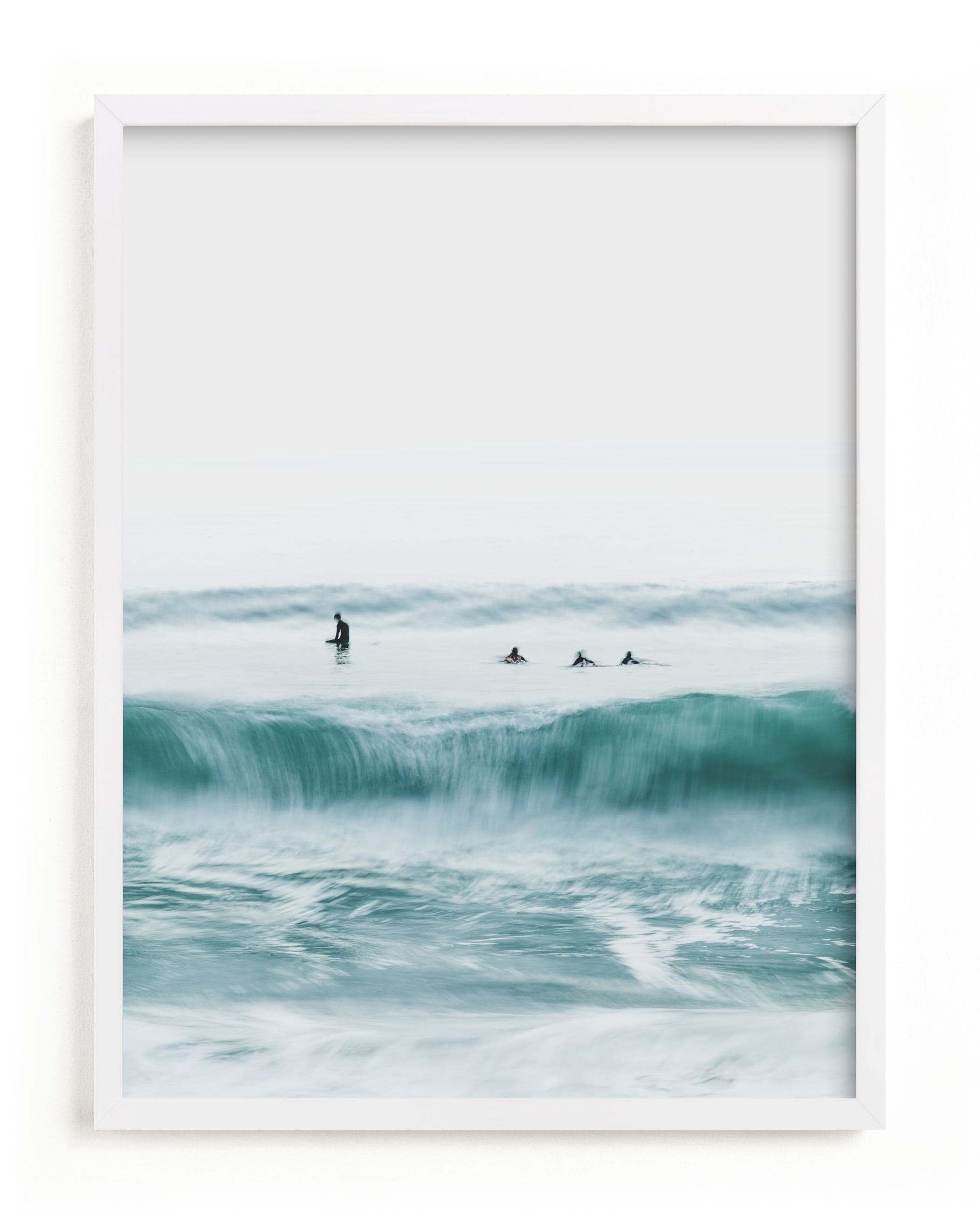 """""""Hermosa Blue I"""" - Limited Edition Art Print by Mike Sunu in beautiful frame options and a variety of sizes."""