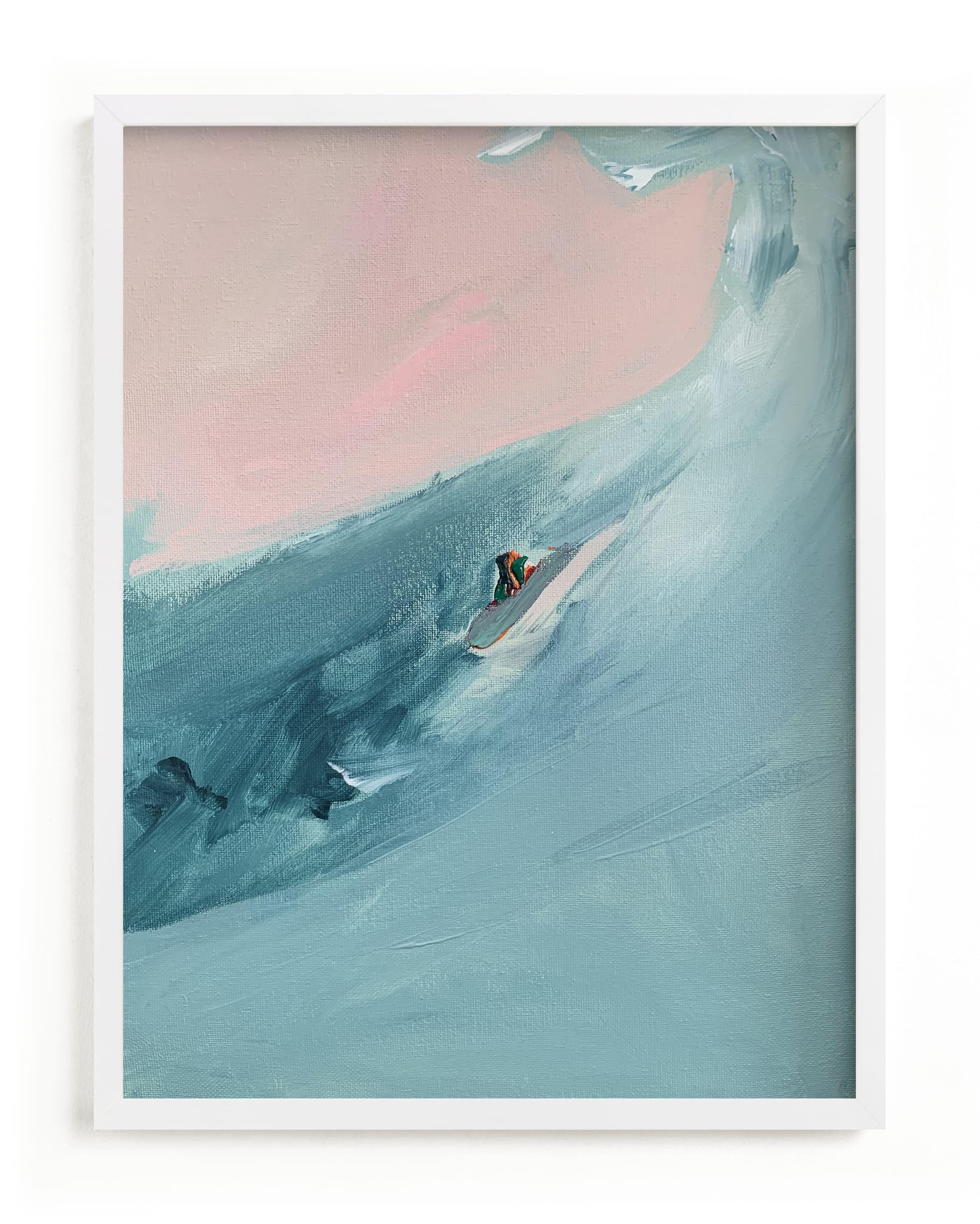 Santa Cruz Surfer Wall Art Print