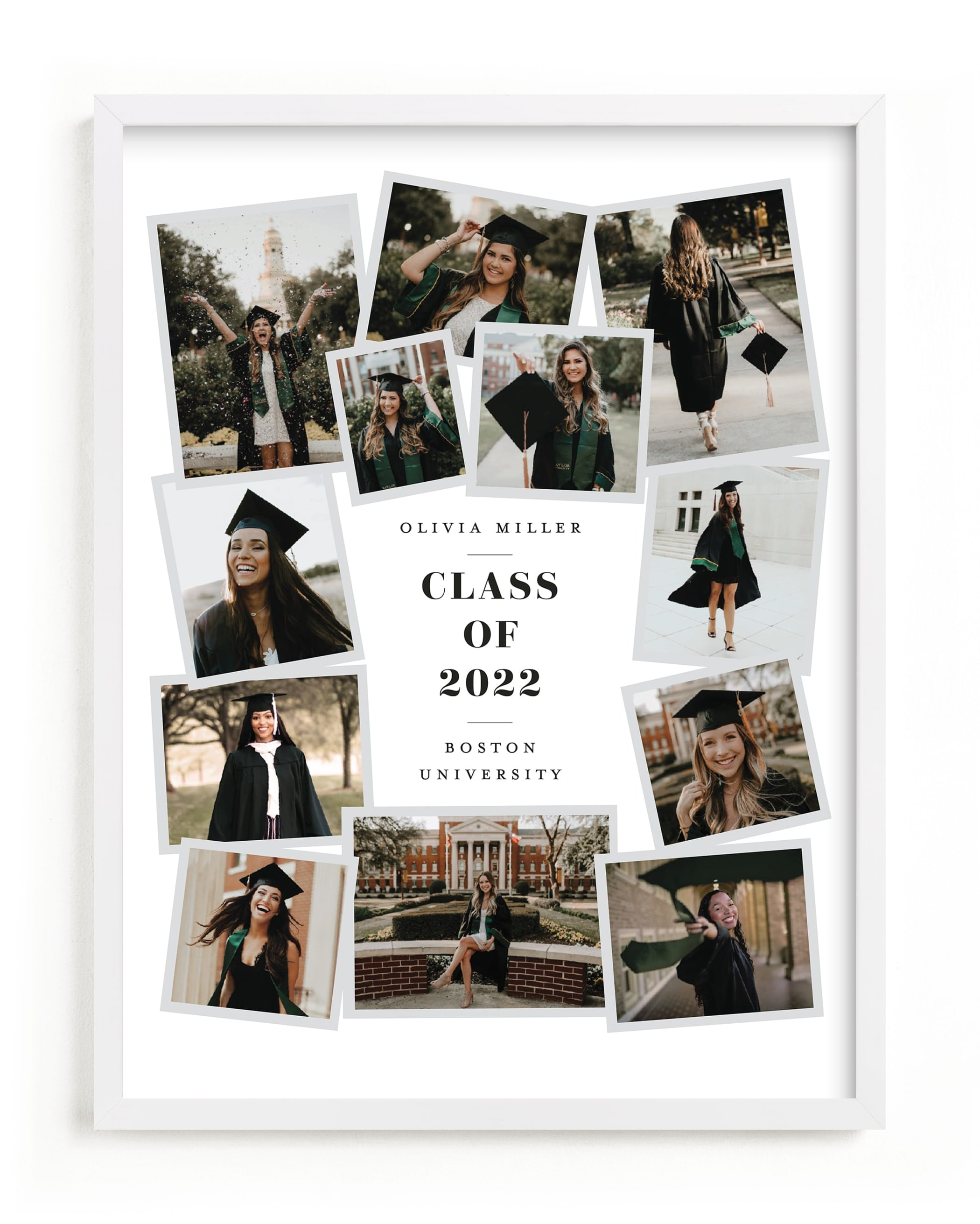 """""""Grad Collage I"""" - Custom Photo Art Print by Minted in beautiful frame options and a variety of sizes."""