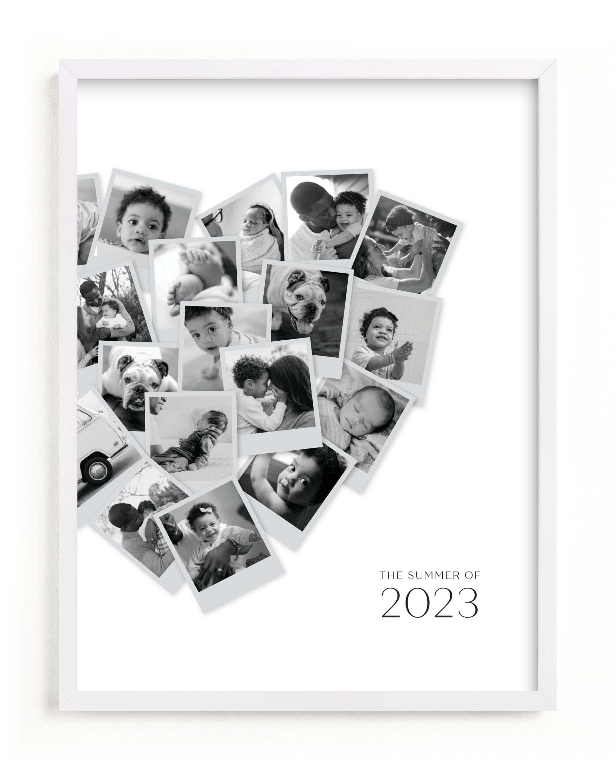 Modern Heart Snapshot Custom Photo Art Print