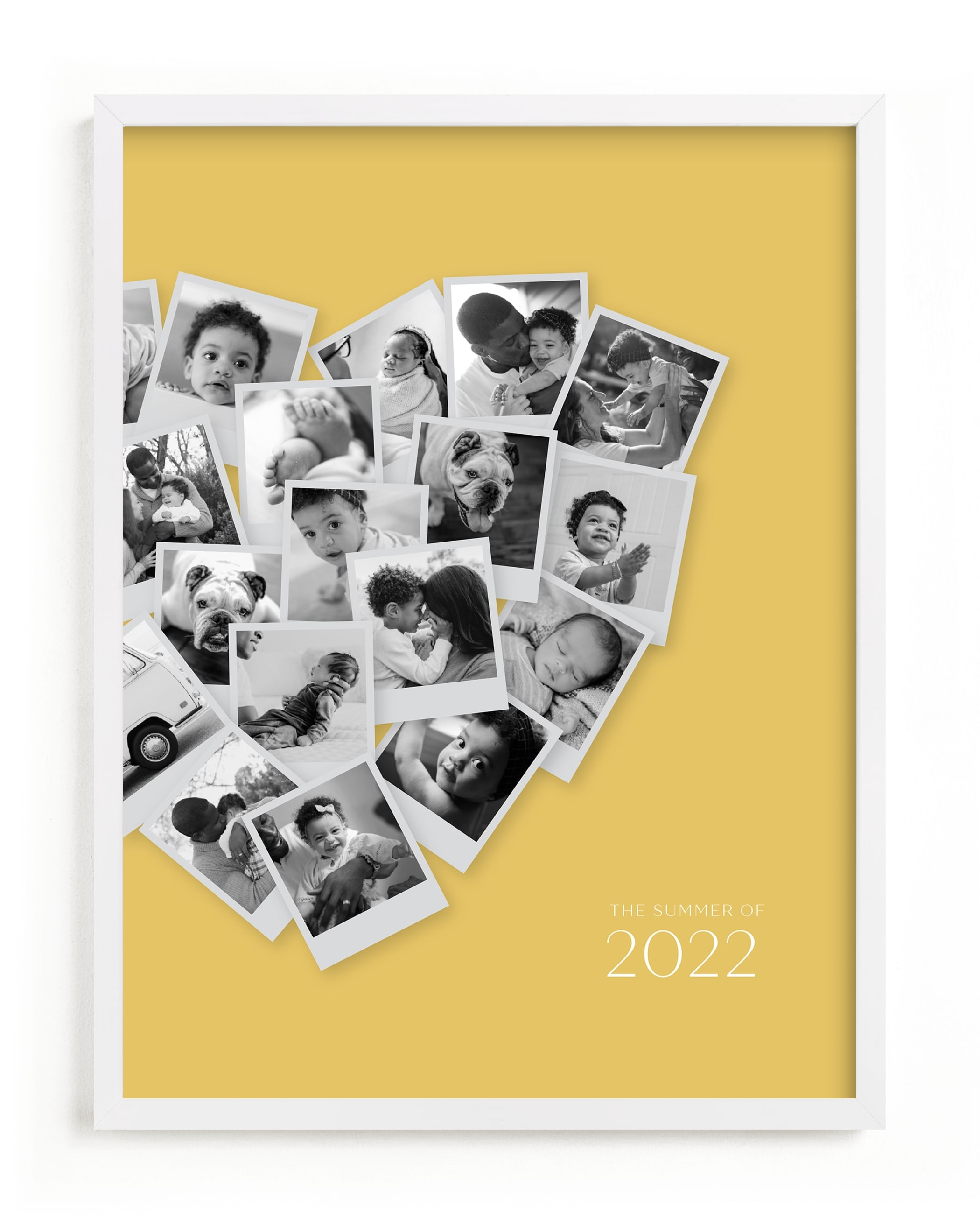 Modern Heart Snapshot Mix® Warm Tones Custom Photo Art Print