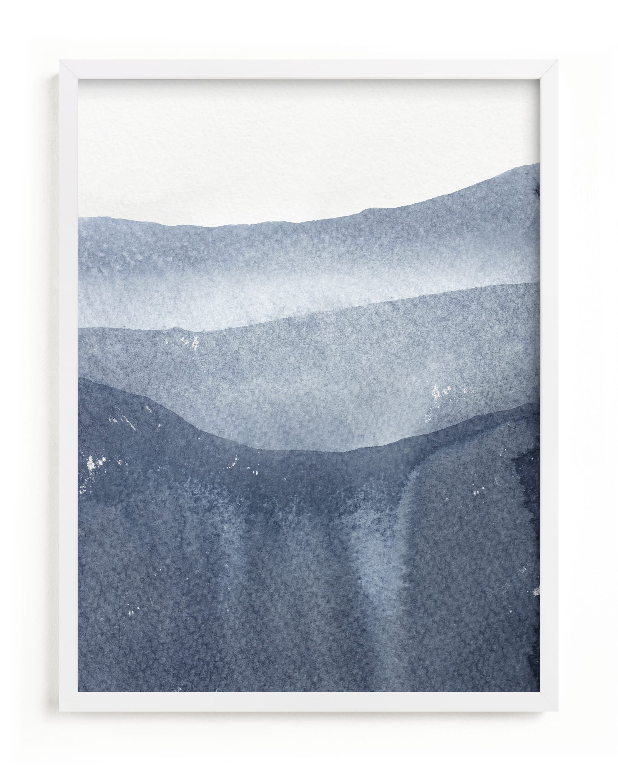 This is a blue art by Julia Contacessi called Sacred Beginning No. 2.