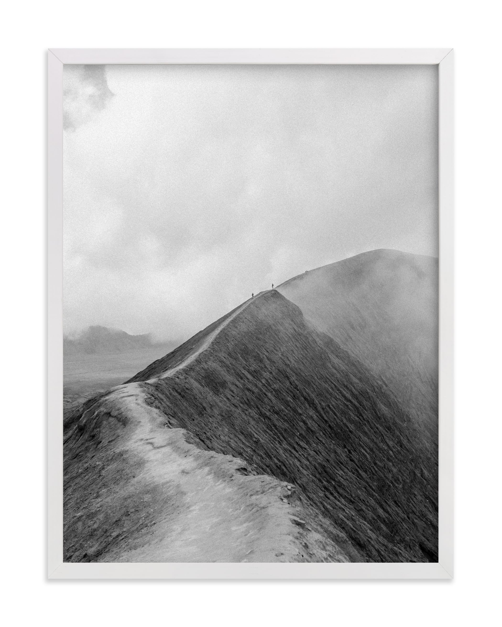 """""""Mighty Mount Bromo"""" - Limited Edition Art Print by Marianne Brouwer in beautiful frame options and a variety of sizes."""