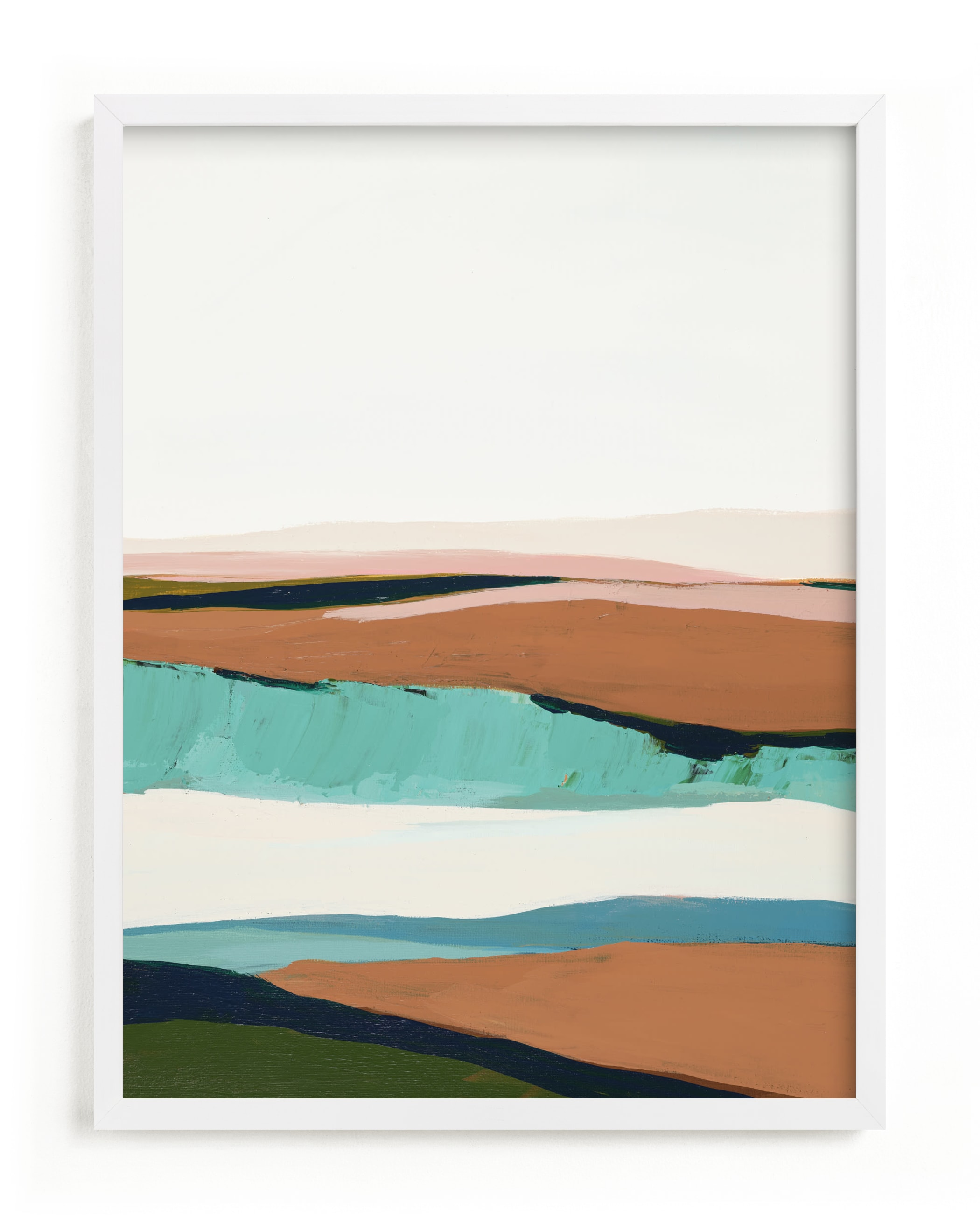 This is a blue art by Caryn Owen called California Seascape.