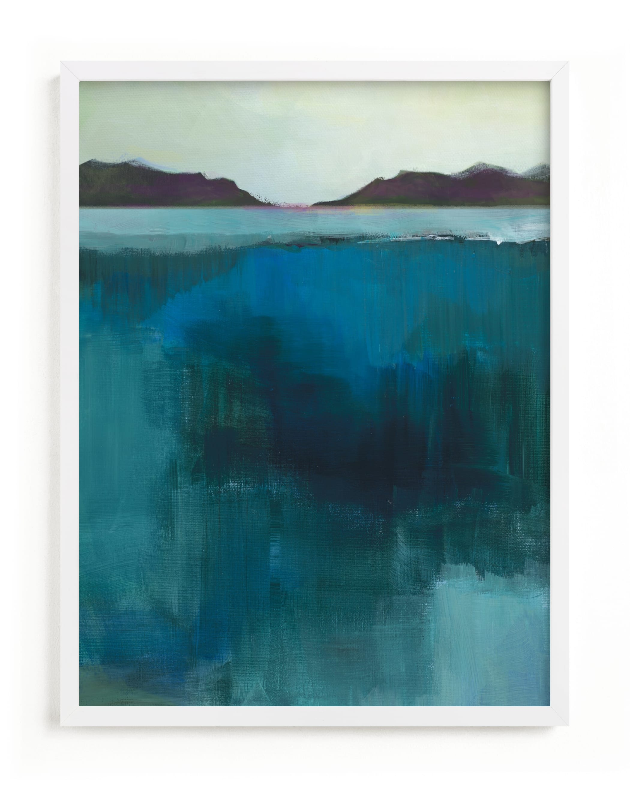 This is a blue art by Alison Jerry Designs called Waterfall Crossing.
