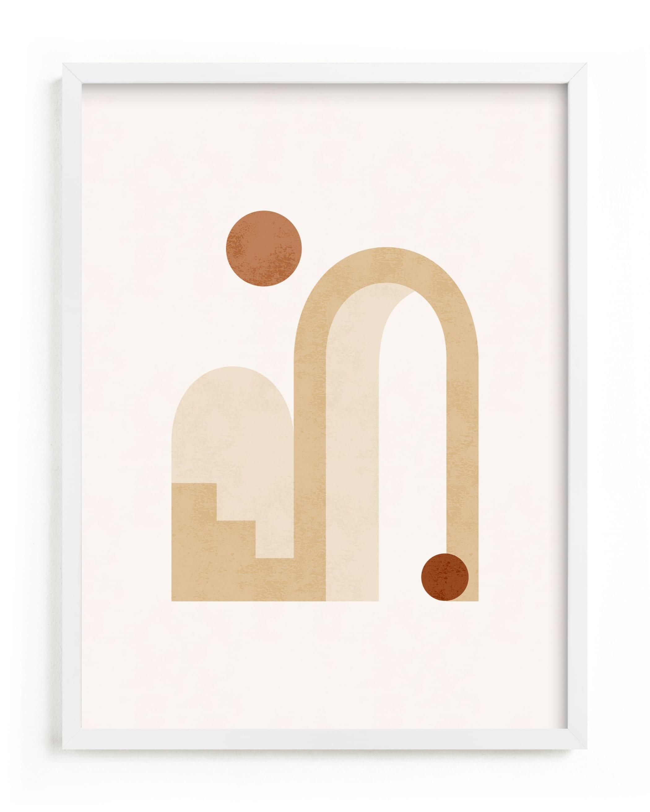 Rustic Geometry 3 Art Print