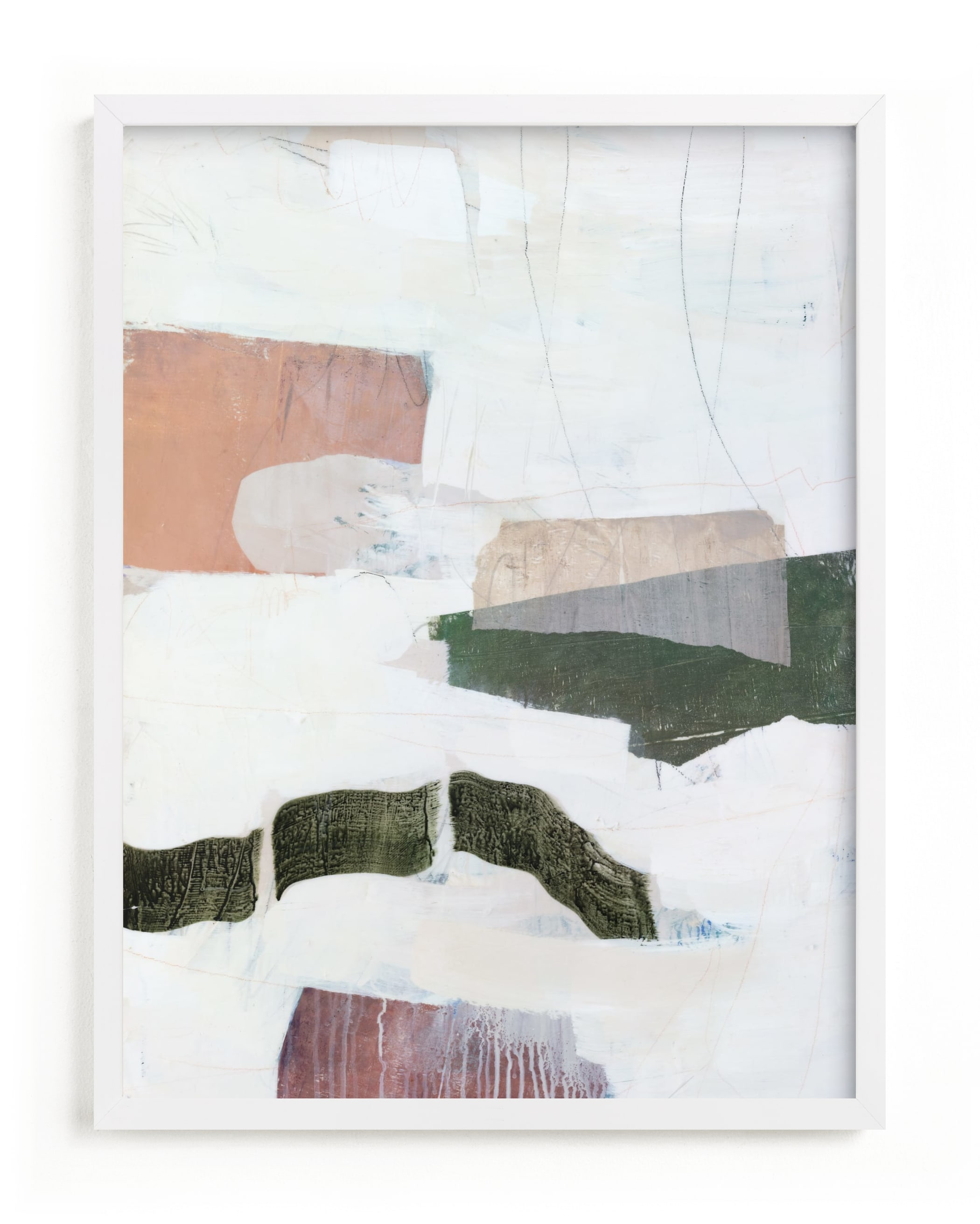 tissue mounds Art Print