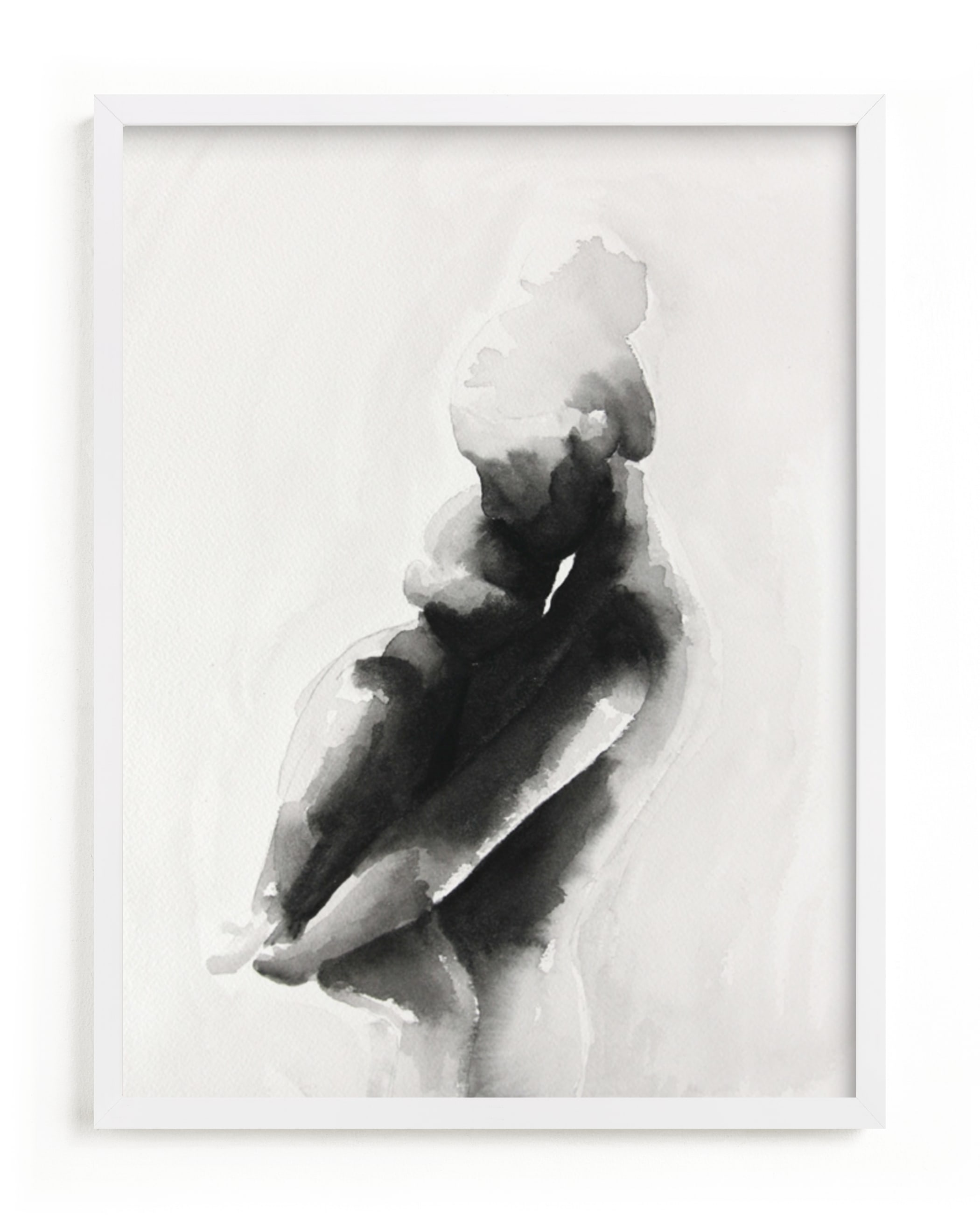 This is a white art by Kate Ahn called mother embrace.