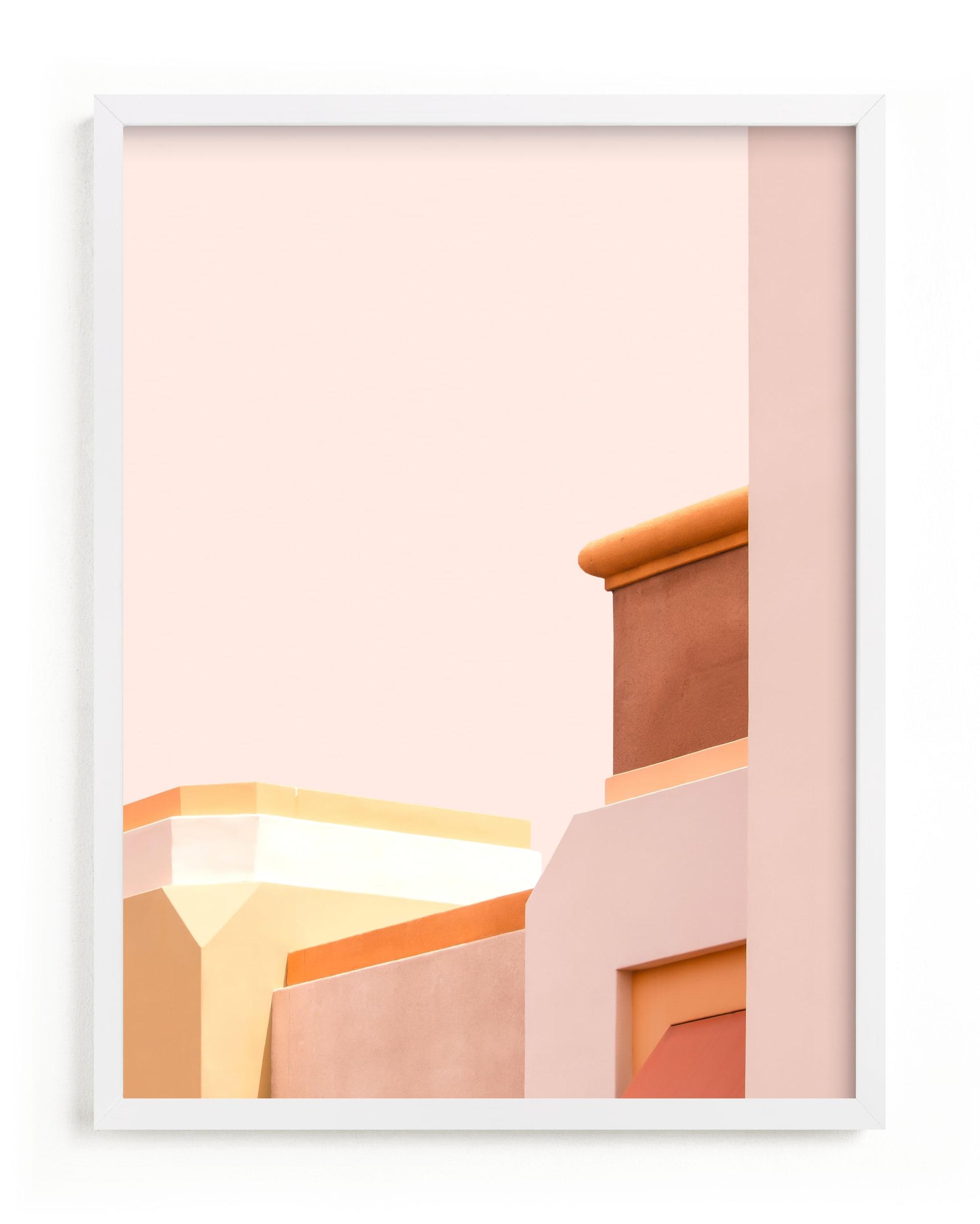 This is a pink art by Lisa Sundin called Urban Desert Series 1.