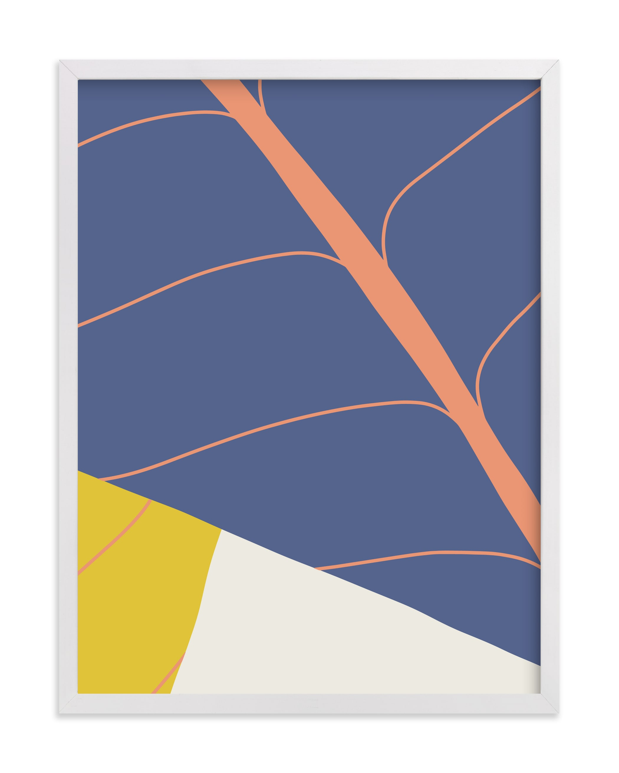 """""""Abstract Leaves"""" - Limited Edition Art Print by Alicia Schultz in beautiful frame options and a variety of sizes."""